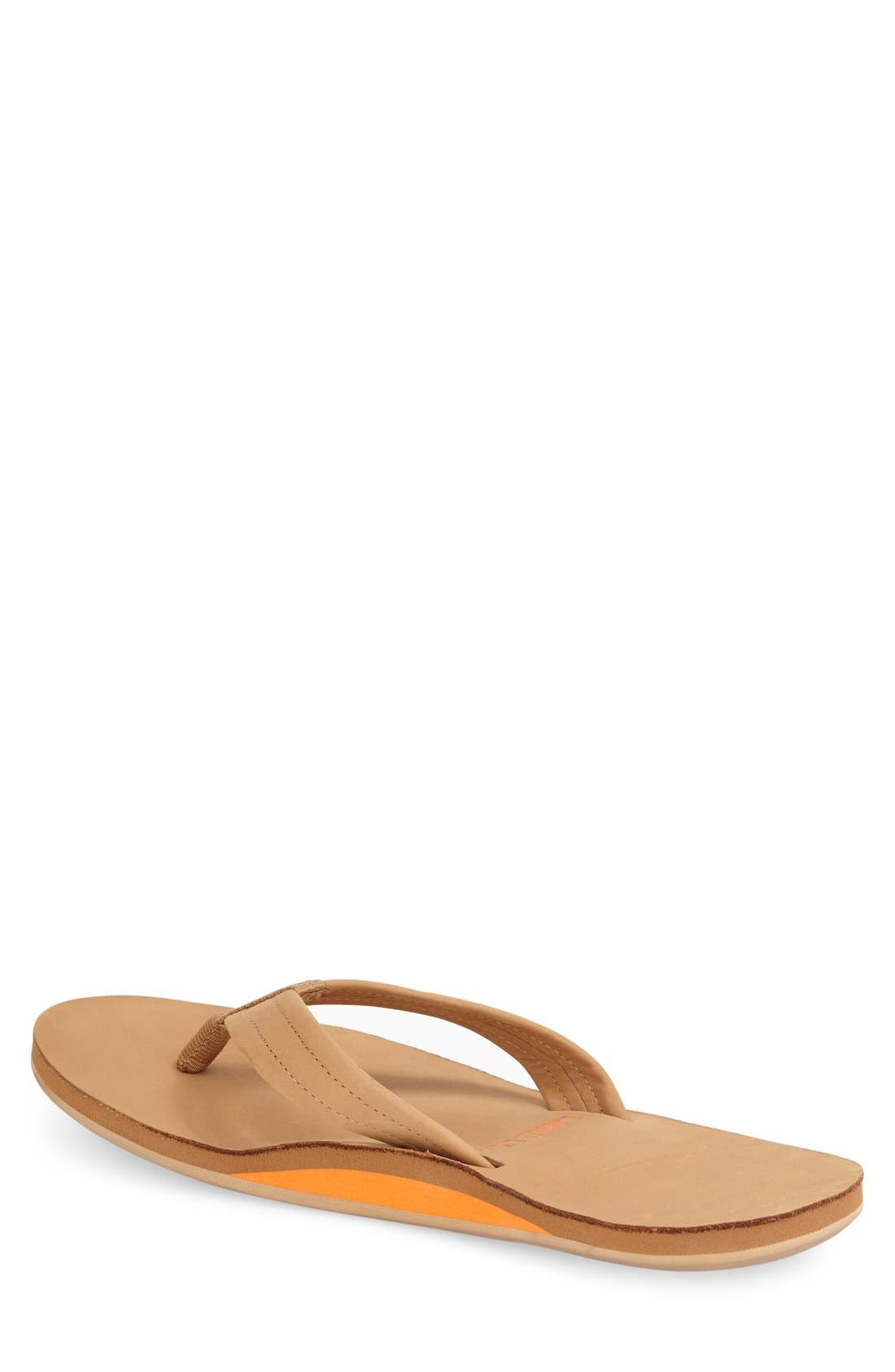 Fields Flip Flop,                             Alternate thumbnail 2, color,                             TAN/ ORANGE/ TAN