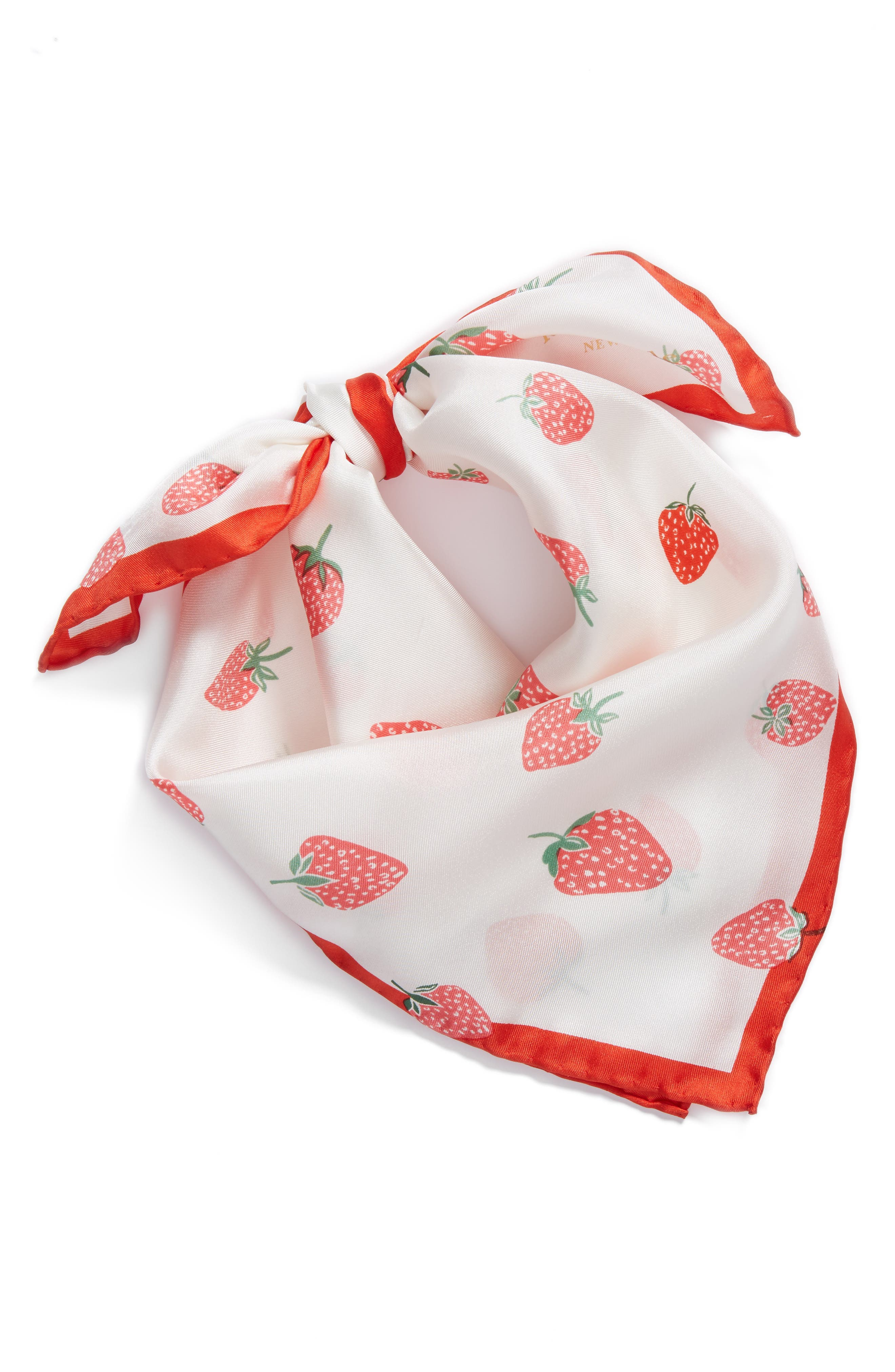 tossed berry silk bandana,                             Alternate thumbnail 2, color,