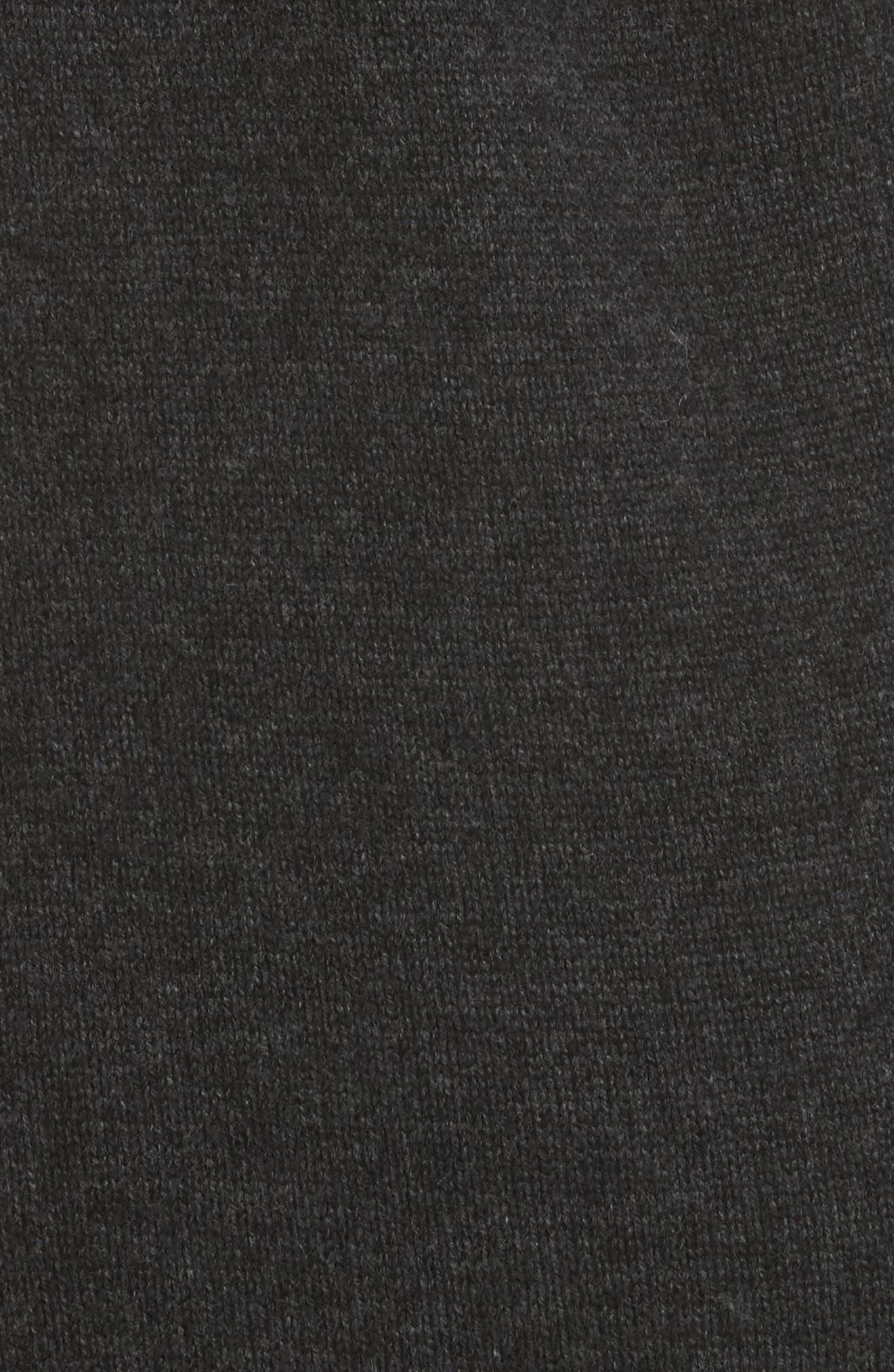 One-Shoulder Sweater Dress,                             Alternate thumbnail 5, color,                             009