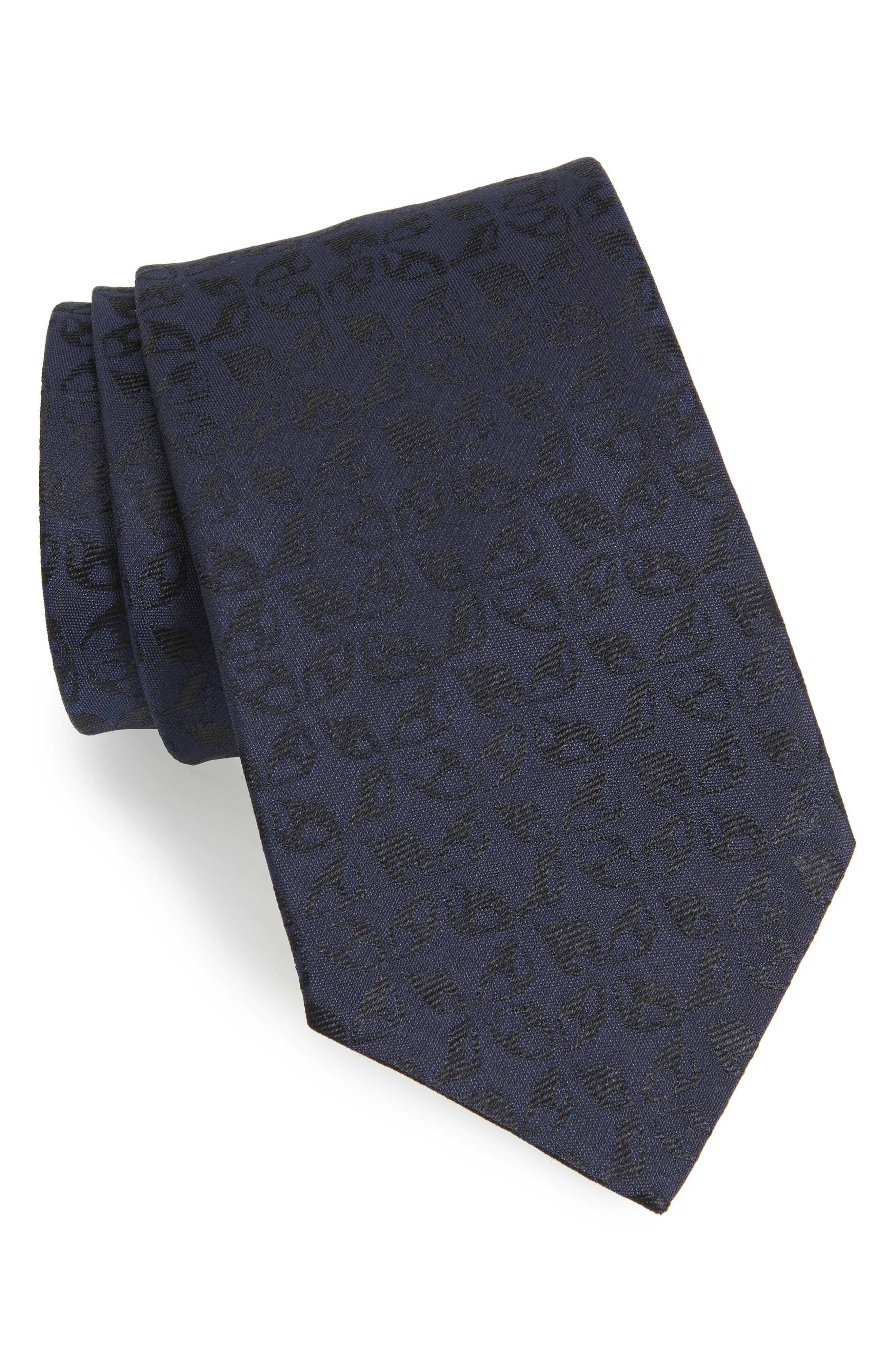 Floral Silk Tie,                         Main,                         color, 414