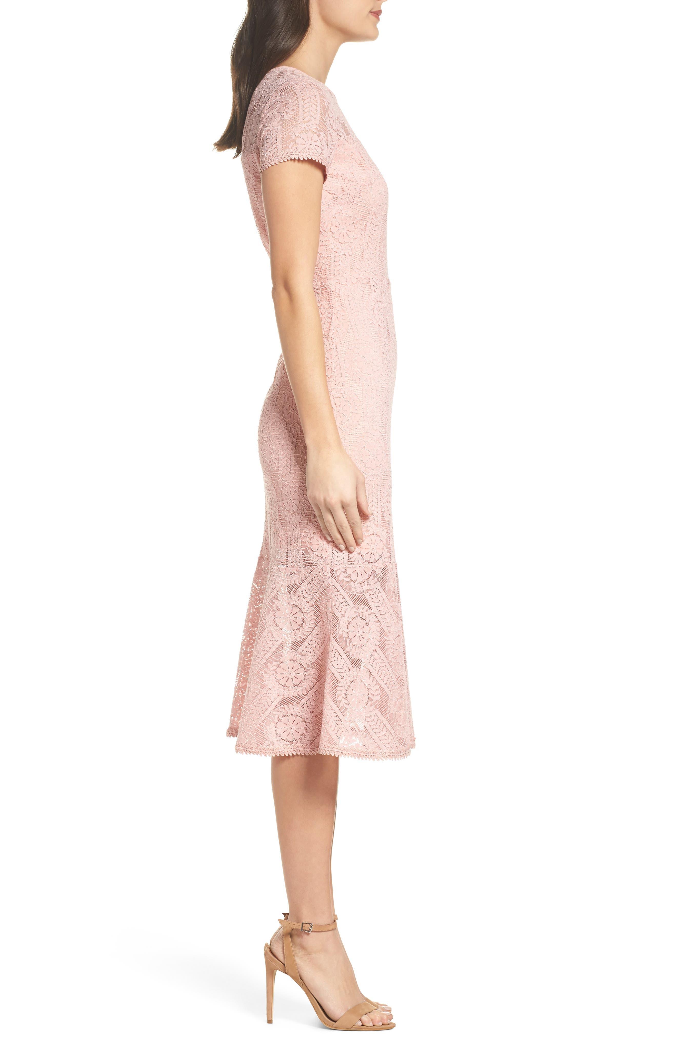 Lace Midi Dress,                             Alternate thumbnail 6, color,