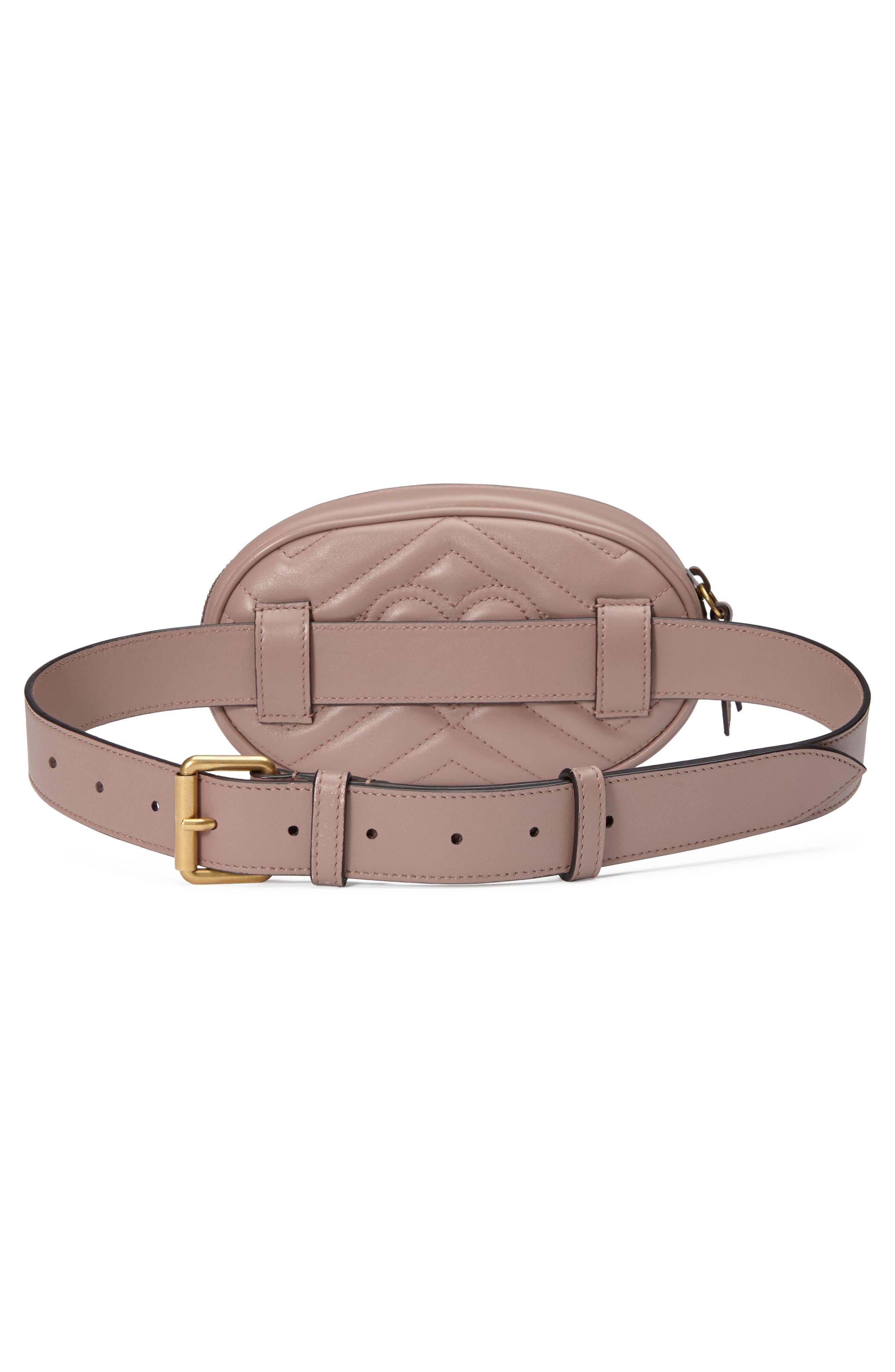 GG Marmont 2.0 Matelassé Leather Belt Bag,                             Alternate thumbnail 2, color,                             PORCELAIN ROSE