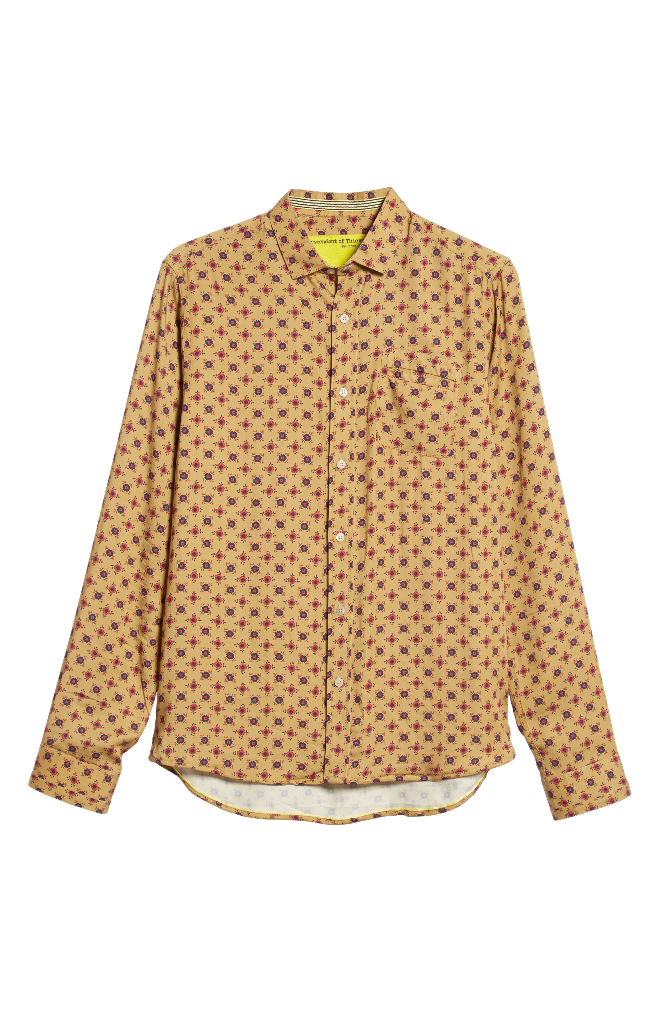 Nonna Wall Long Sleeve Woven Shirt,                             Alternate thumbnail 5, color,                             KHAKI
