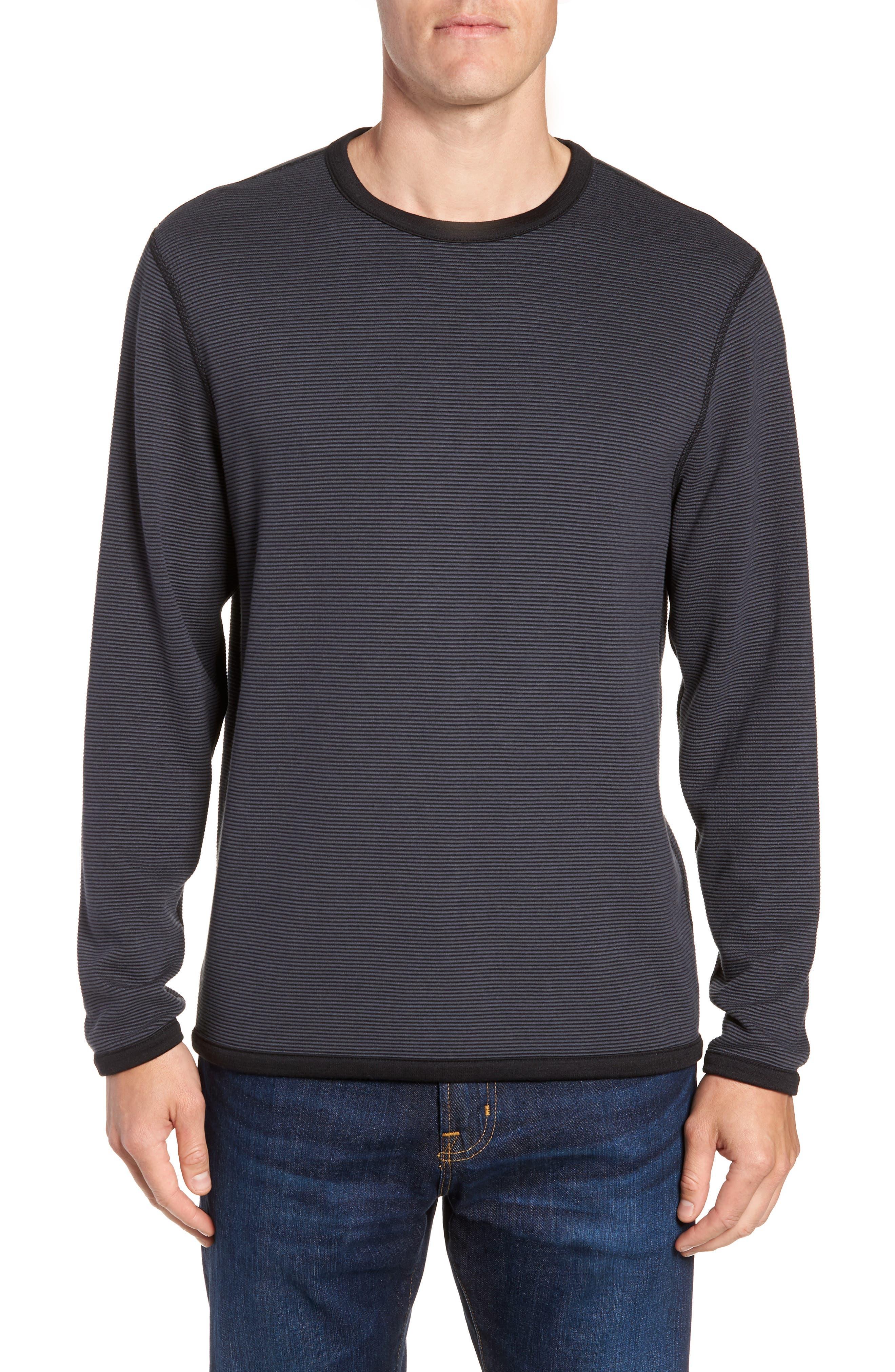 Crewneck Sweater,                             Alternate thumbnail 2, color,                             BLACK CAVIAR