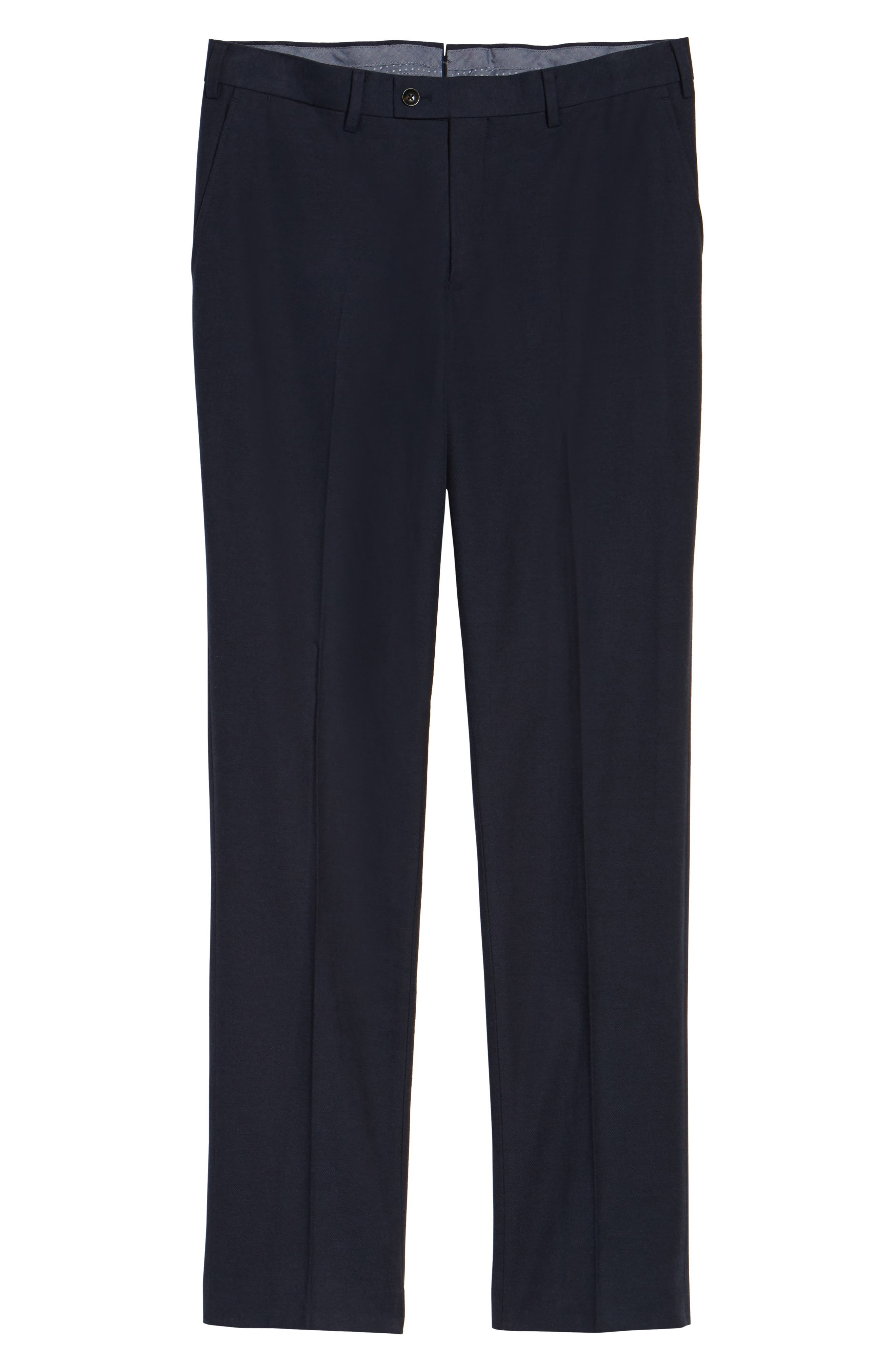Pembroke Slim Fit Twill Pants,                             Alternate thumbnail 6, color,                             410