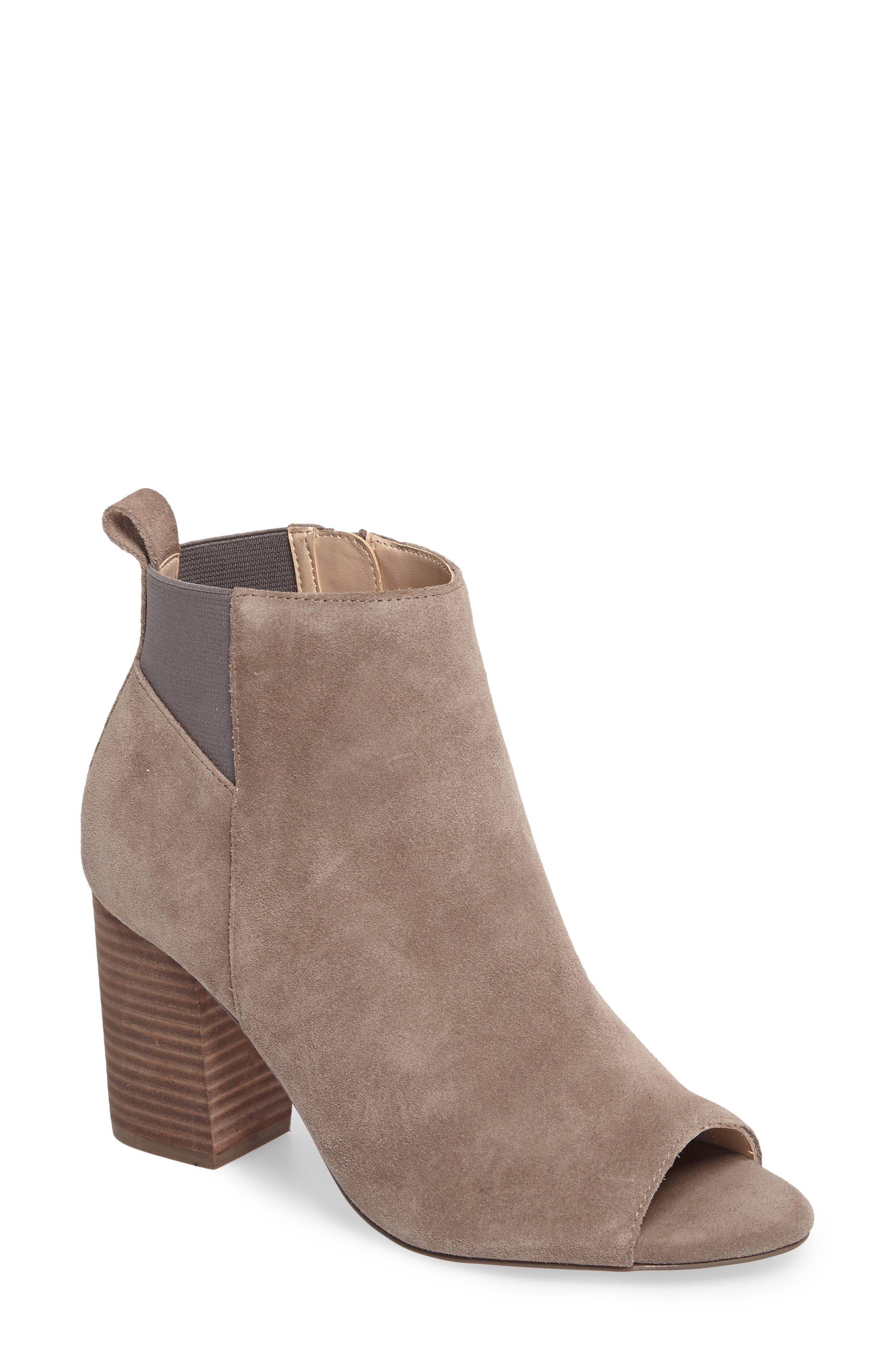 Vita Peep Toe Bootie,                             Main thumbnail 1, color,                             020