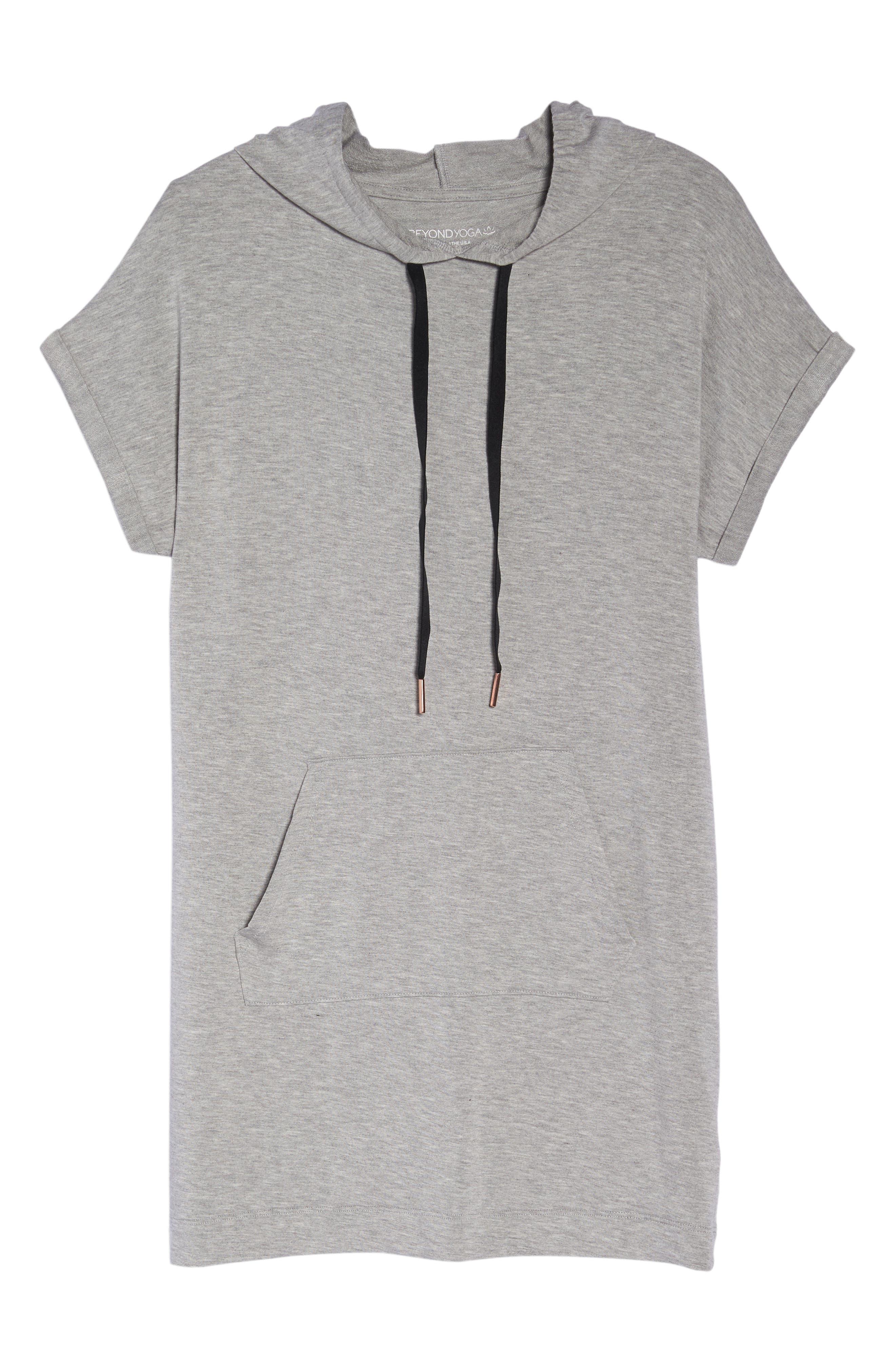 It's All Hoodie Hooded Sweatshirt Dress,                             Alternate thumbnail 7, color,                             LIGHT HEATHER GRAY