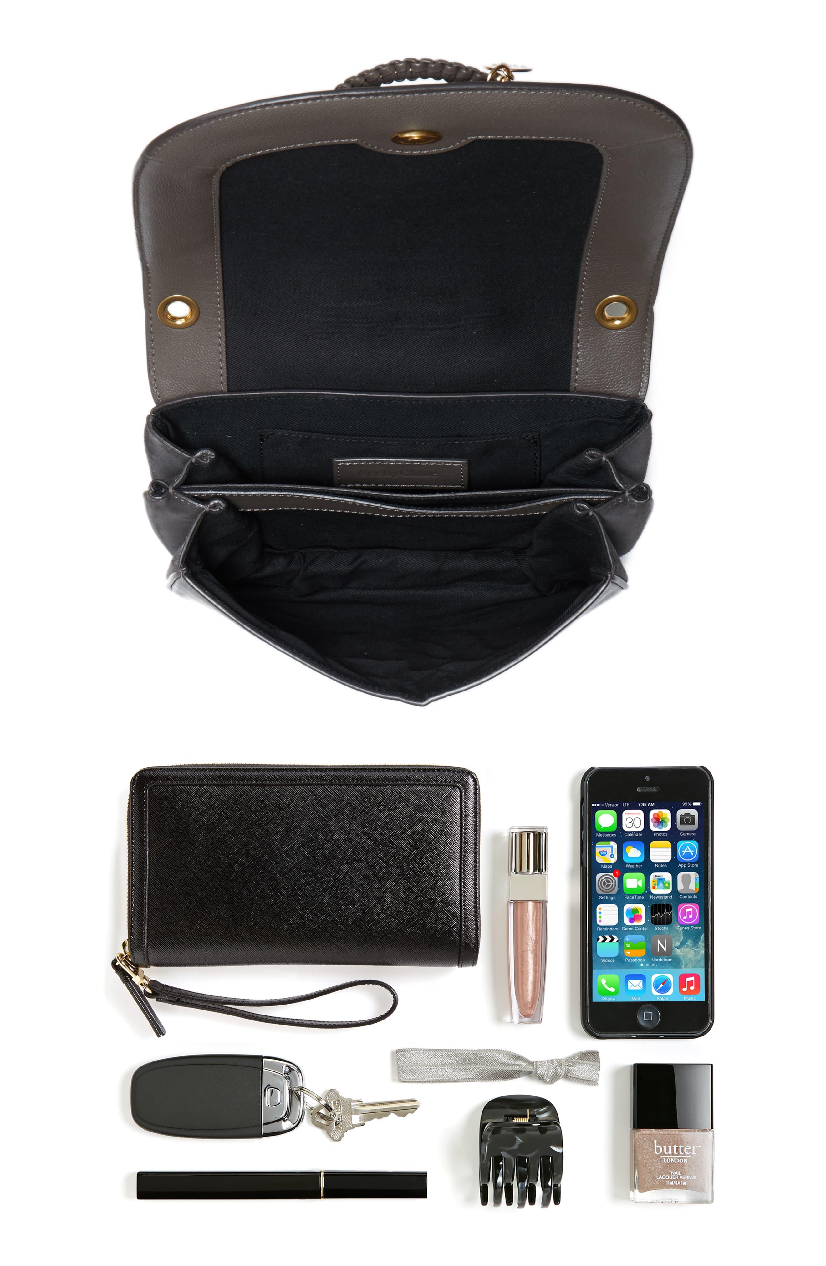 Small Hana Studded Leather Crossbody Bag,                             Alternate thumbnail 7, color,                             201