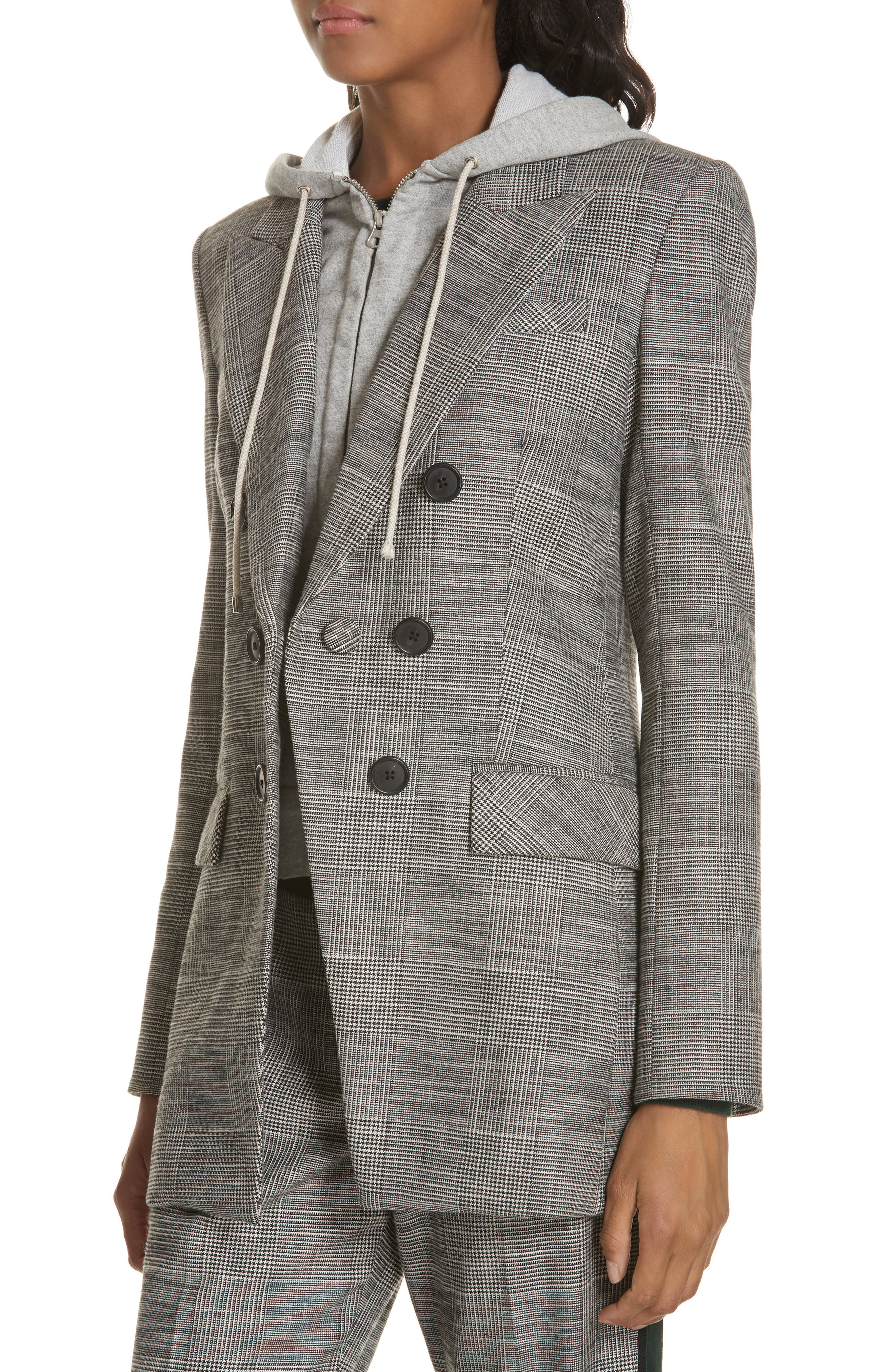 Fortuna Check Dickey Jacket,                             Alternate thumbnail 4, color,                             020
