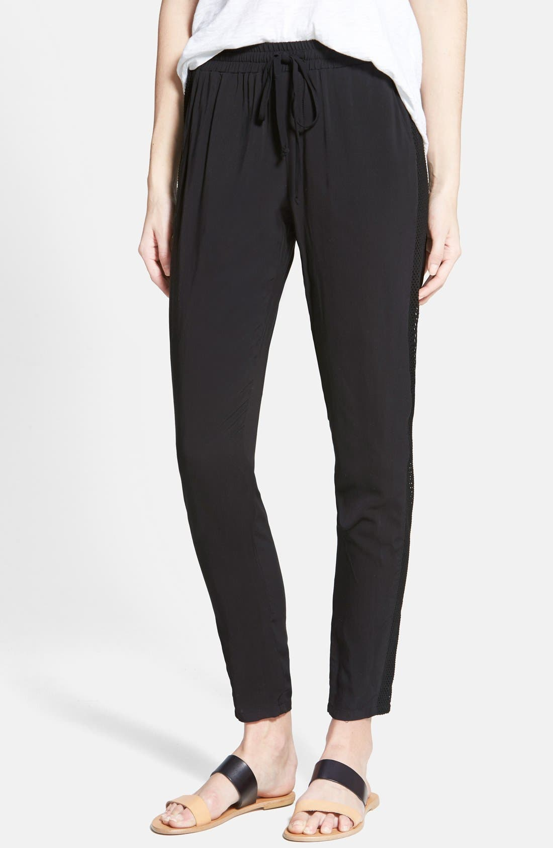 Mesh Panel Pants, Main, color, 001