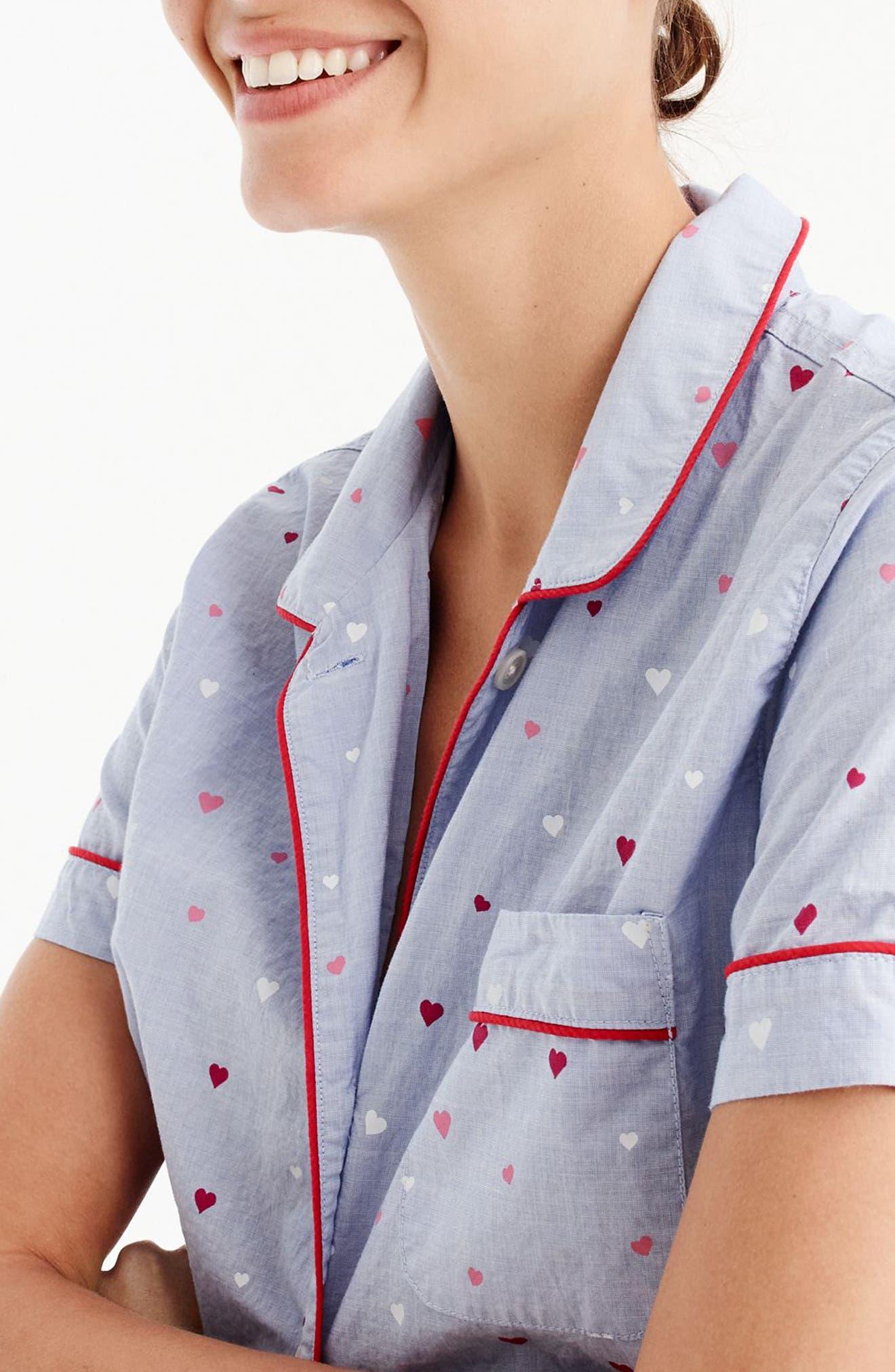 Short Cotton Pajamas,                             Alternate thumbnail 2, color,                             404