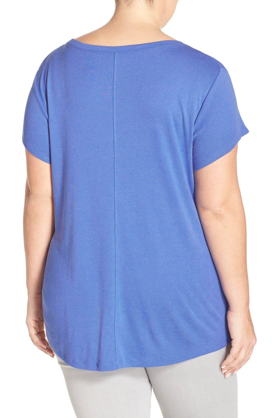 Short Sleeve V-Neck Tee,                             Alternate thumbnail 49, color,