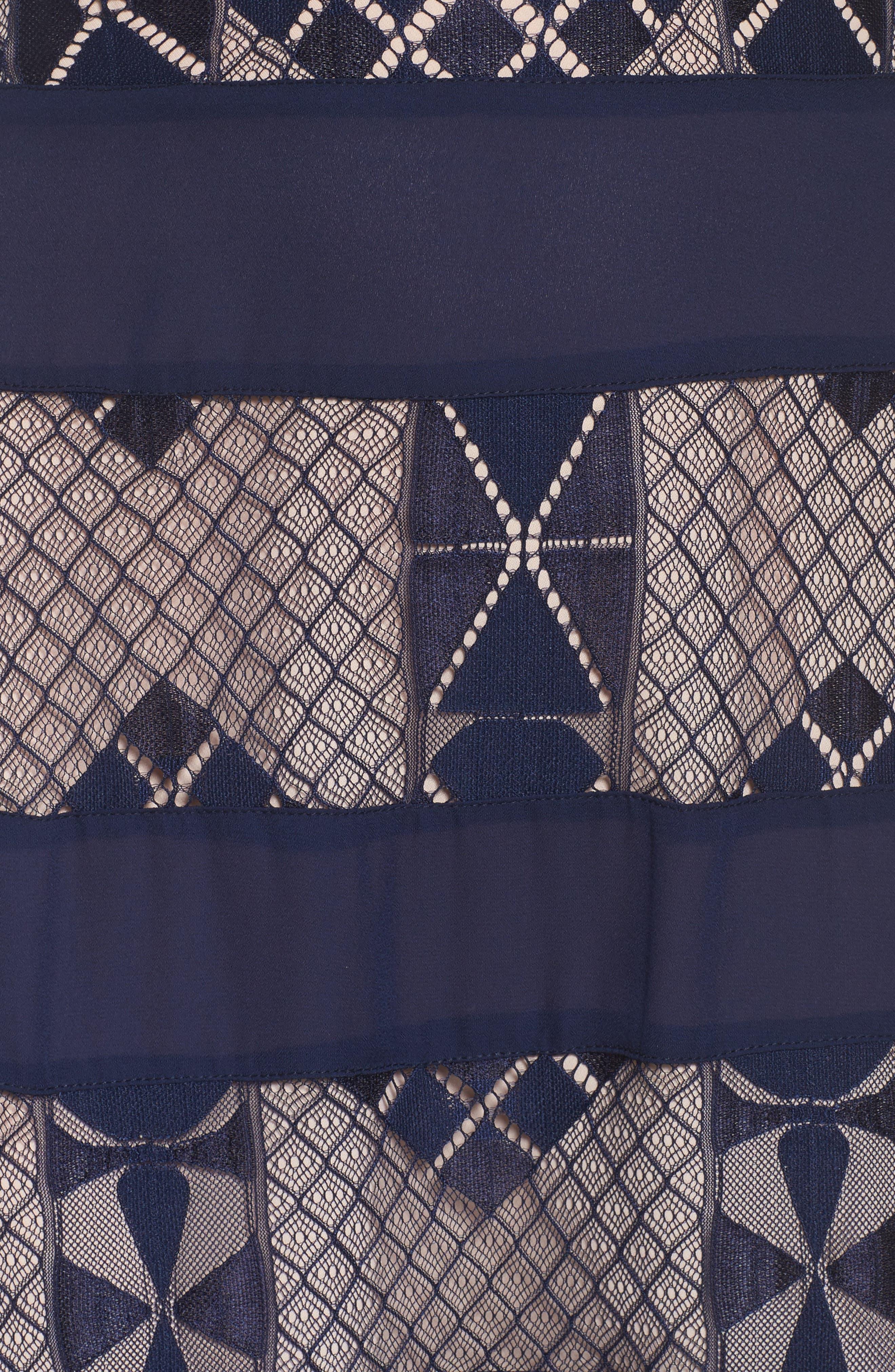 Bravo Zulu Lacy Paneled Dress,                             Alternate thumbnail 5, color,                             414