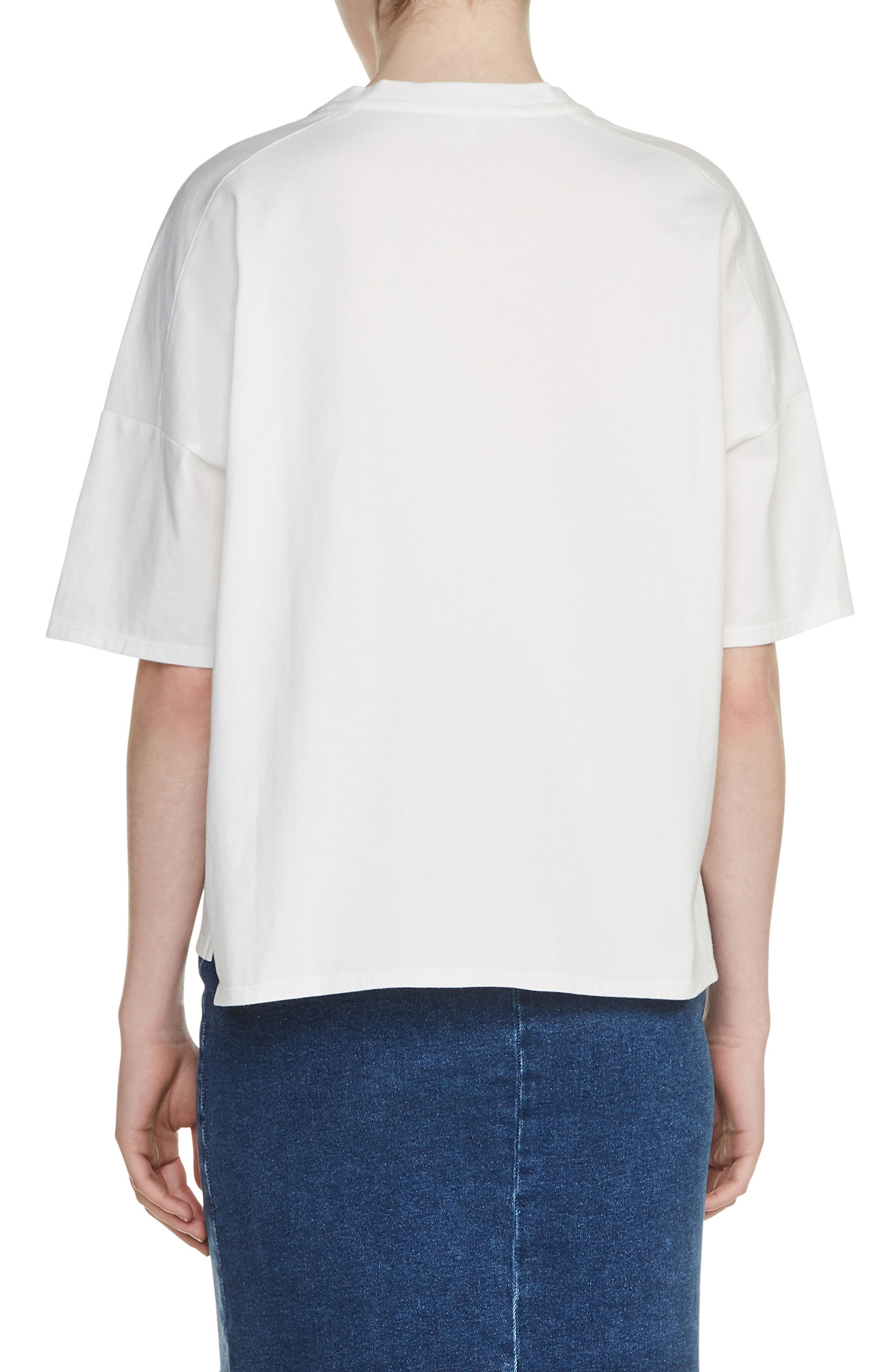 Embroidered Tee,                             Alternate thumbnail 2, color,                             100