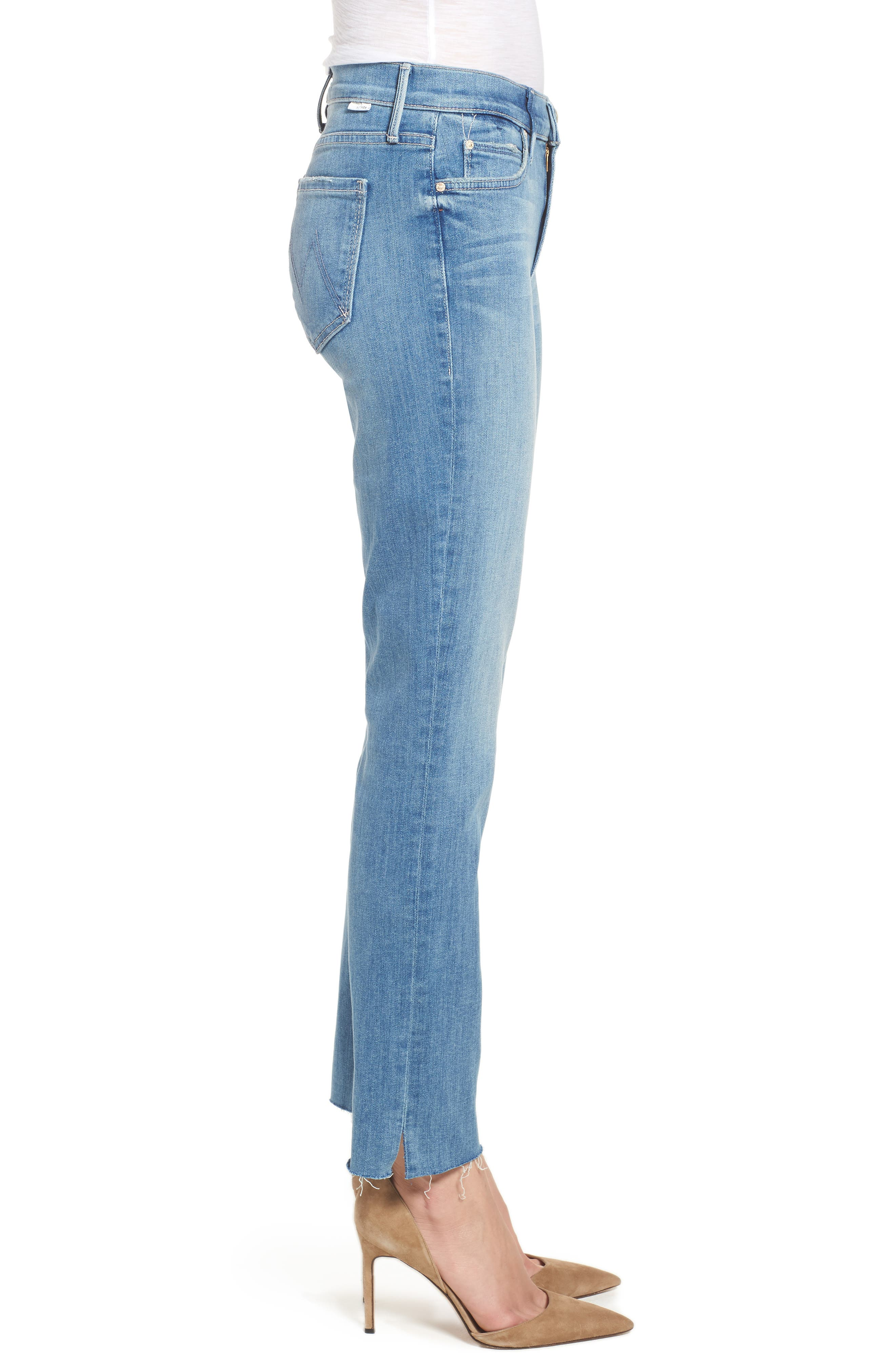 MOTHER,                             The Rascal Ankle Snippet Straight Leg Jeans,                             Alternate thumbnail 3, color,                             400