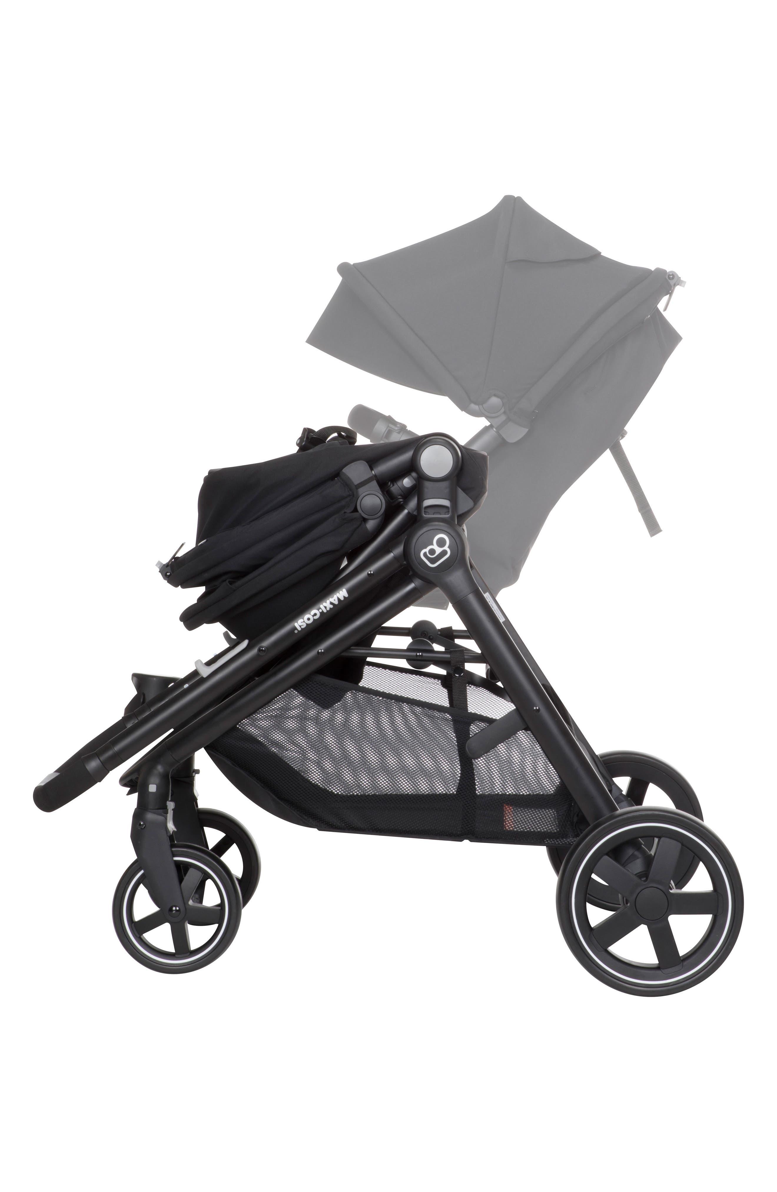 5-1 Mico 30 Infant Car Seat & Zelia Stroller Modular Travel System,                             Alternate thumbnail 8, color,                             NIGHT BLACK