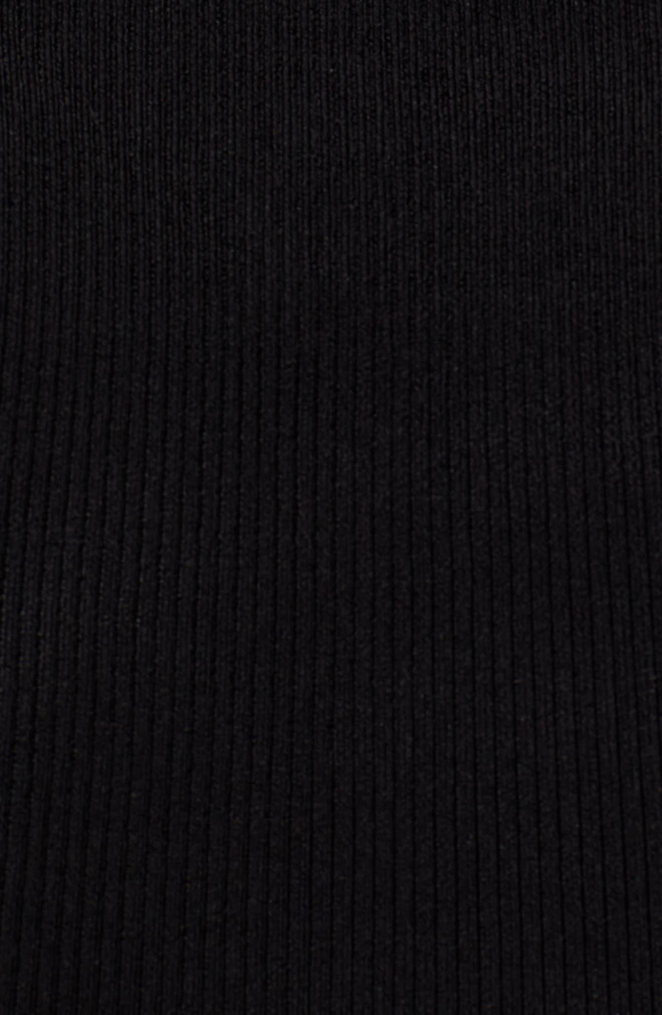 Skivvy Double-V Sweater,                             Alternate thumbnail 5, color,                             001