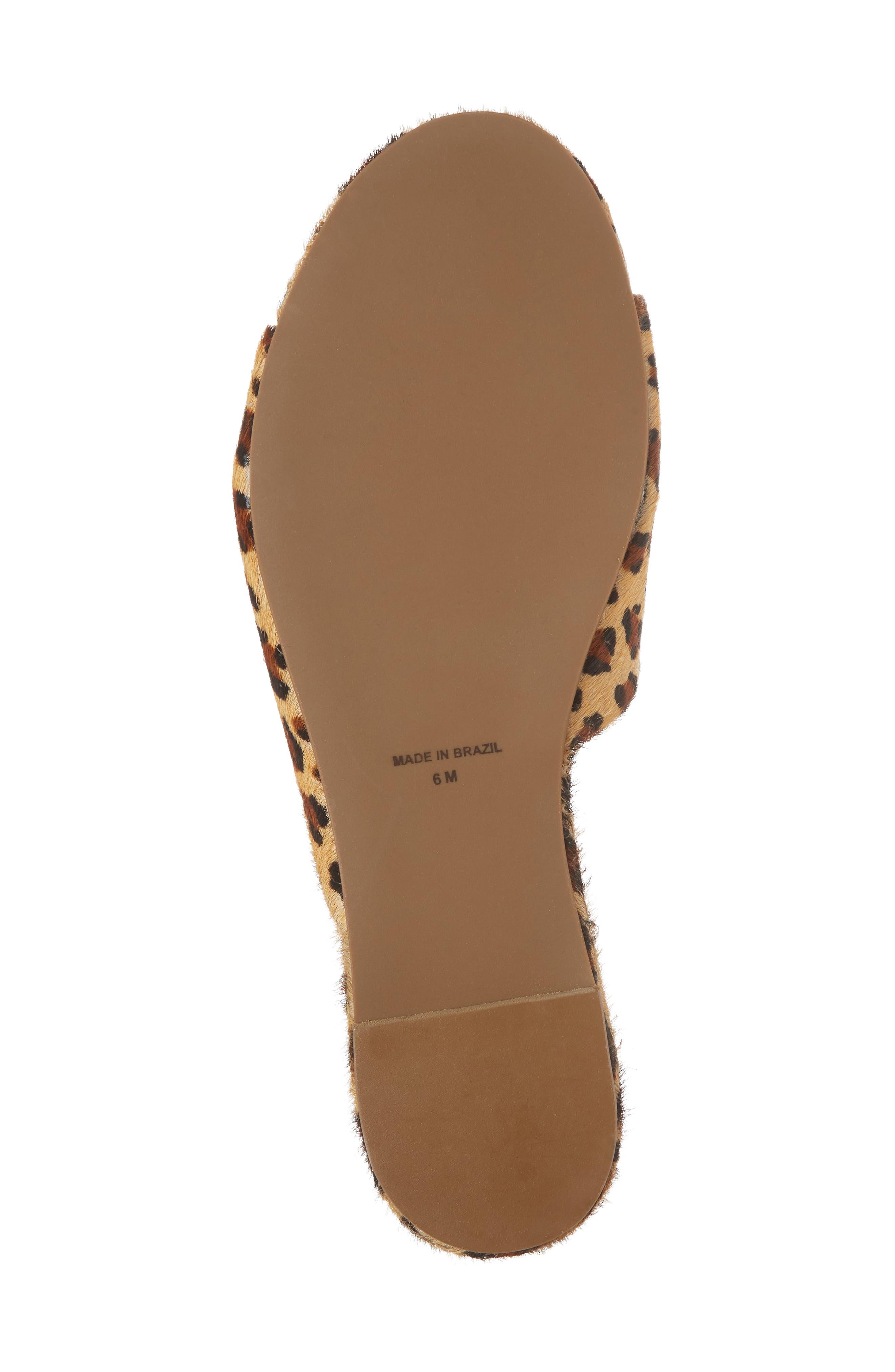 Lira Genuine Calf Hair Sandal,                             Alternate thumbnail 6, color,                             LEOPARD LEATHER