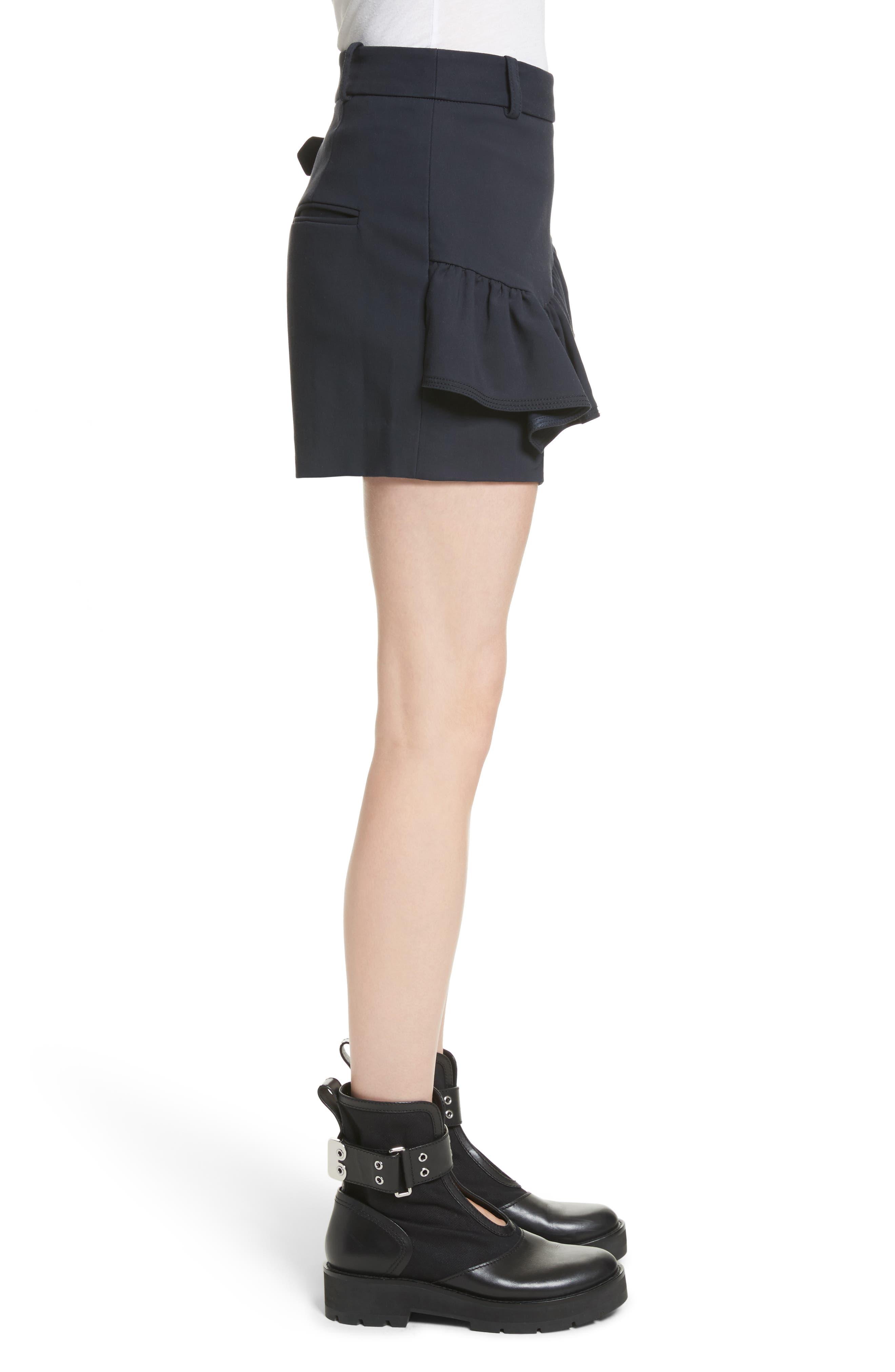 Ruffle Apron Shorts,                             Alternate thumbnail 3, color,                             401