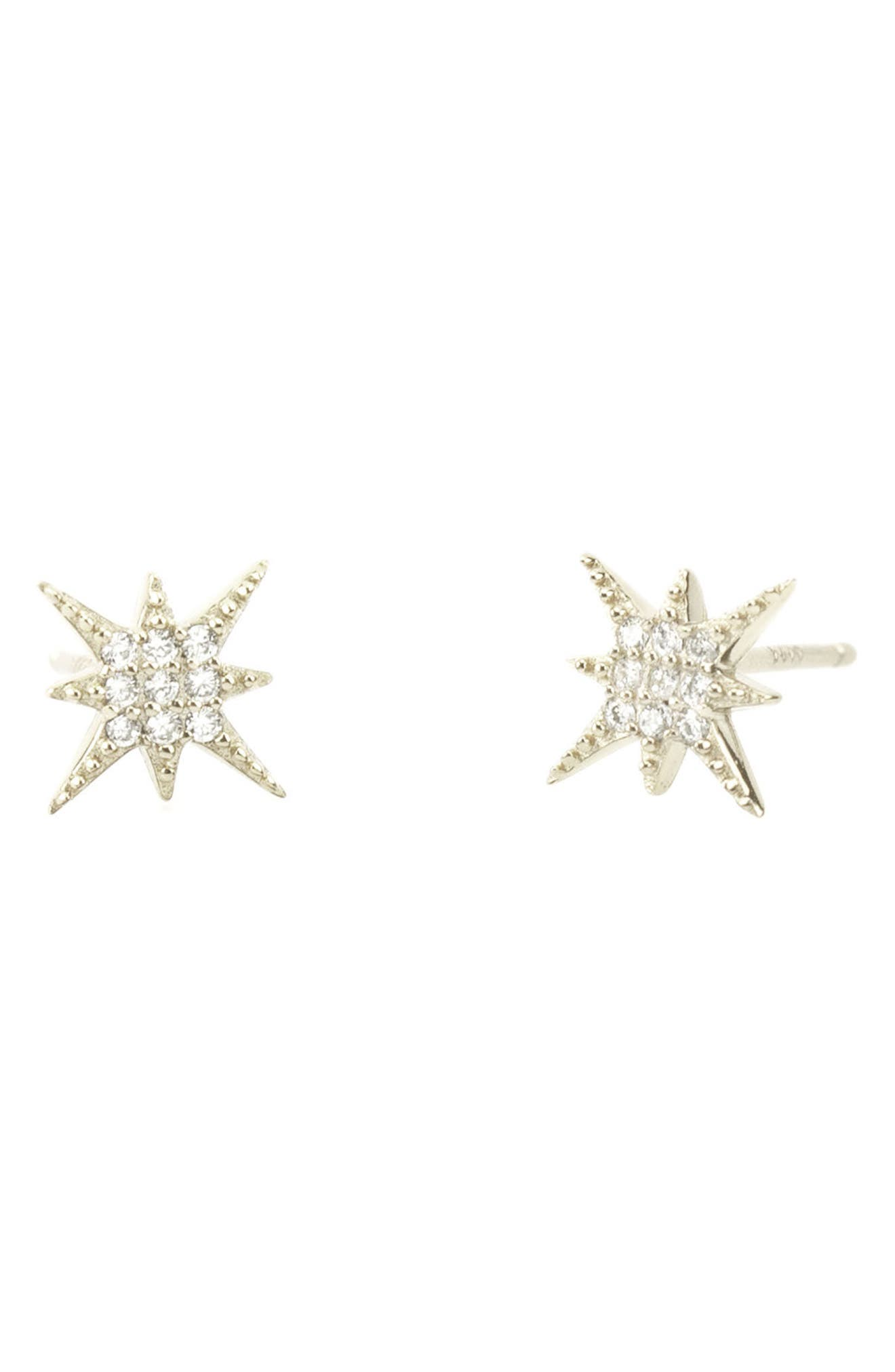 Pavé Starburst Stud Earrings,                         Main,                         color,