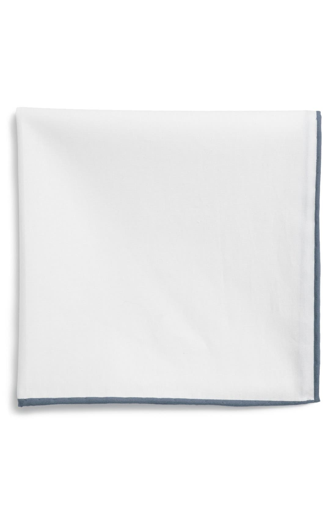 Cotton Solid Pocket Square,                             Main thumbnail 3, color,