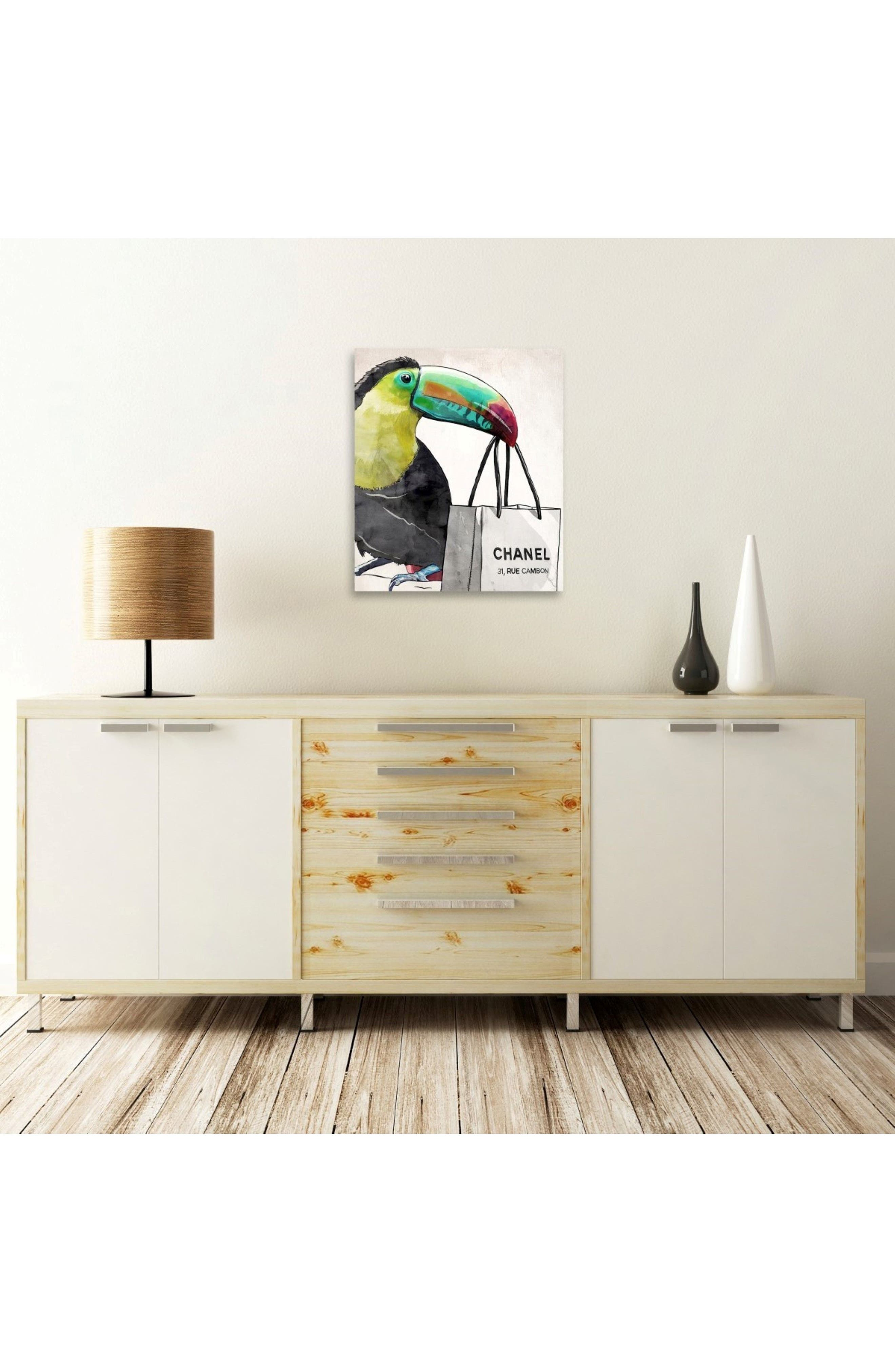 French Toucan Canvas Wall Art,                             Alternate thumbnail 2, color,