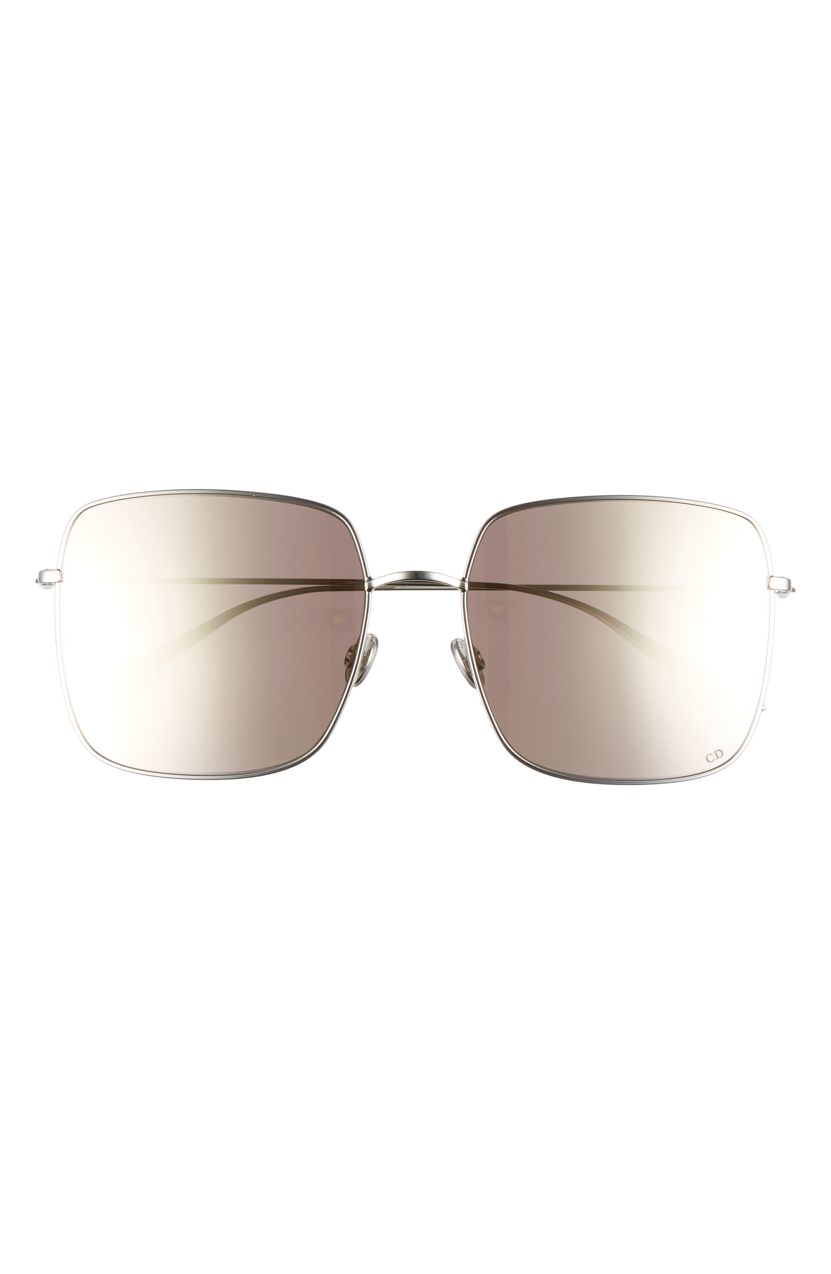 Stellaire 1 59mm Square Sunglasses,                             Alternate thumbnail 3, color,                             PALLADIUM