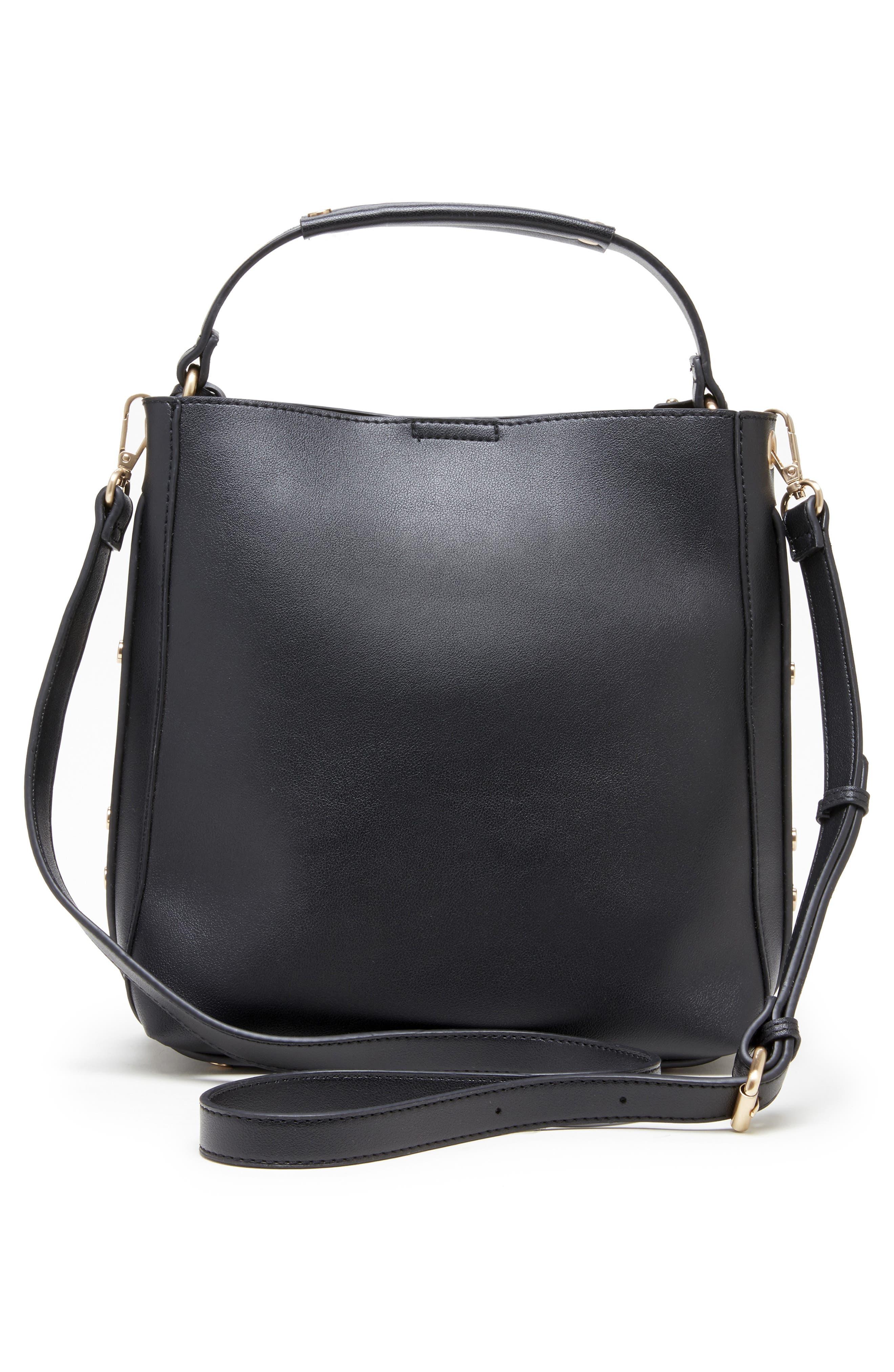 Hingi Faux Leather Shoulder Bag,                             Alternate thumbnail 2, color,                             BLACK