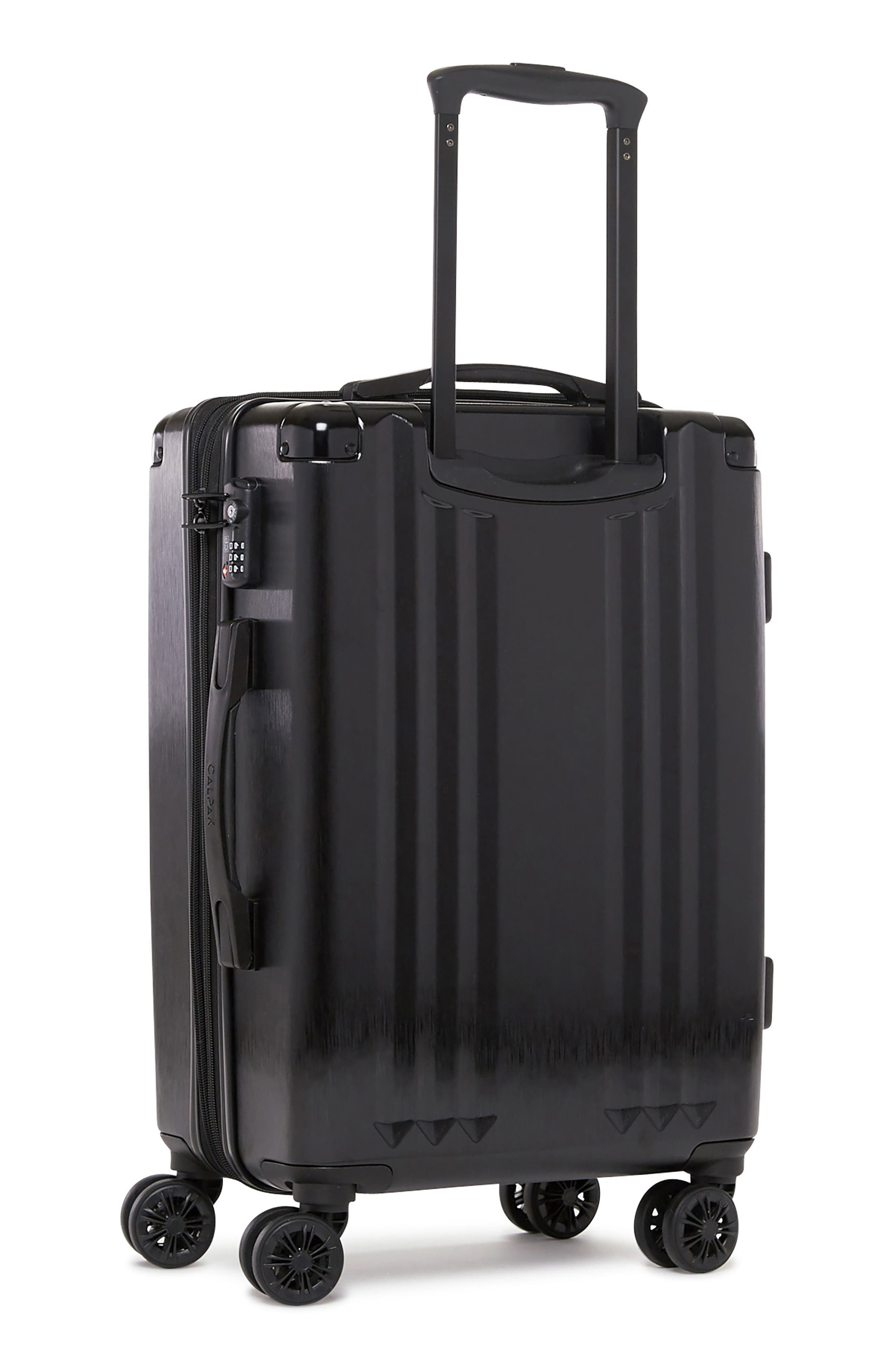 Ambeur 20-Inch Rolling Spinner Carry-On,                             Main thumbnail 1, color,                             BLACK