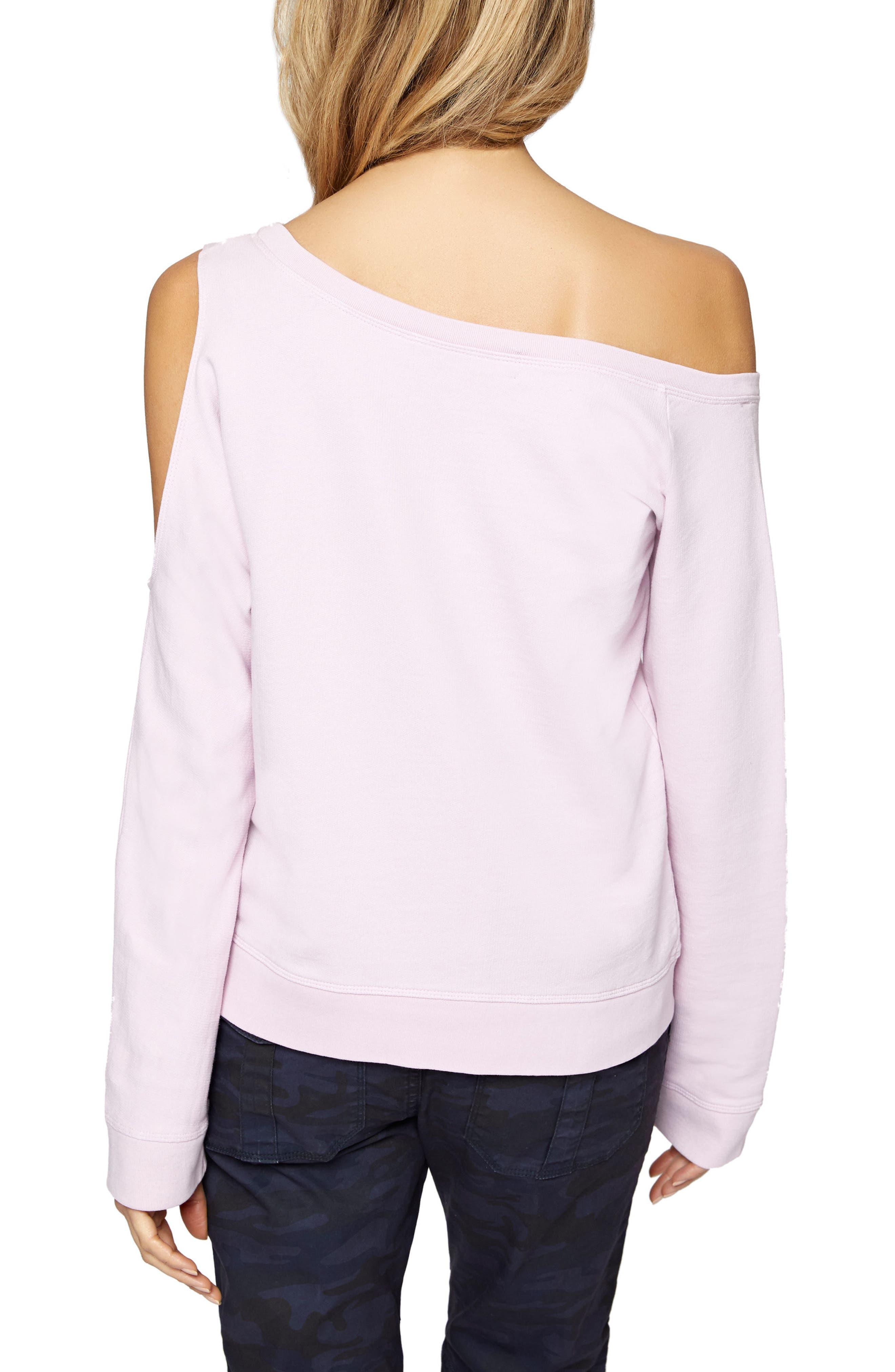 Alexi Asymmetrical Sweatshirt,                             Alternate thumbnail 6, color,