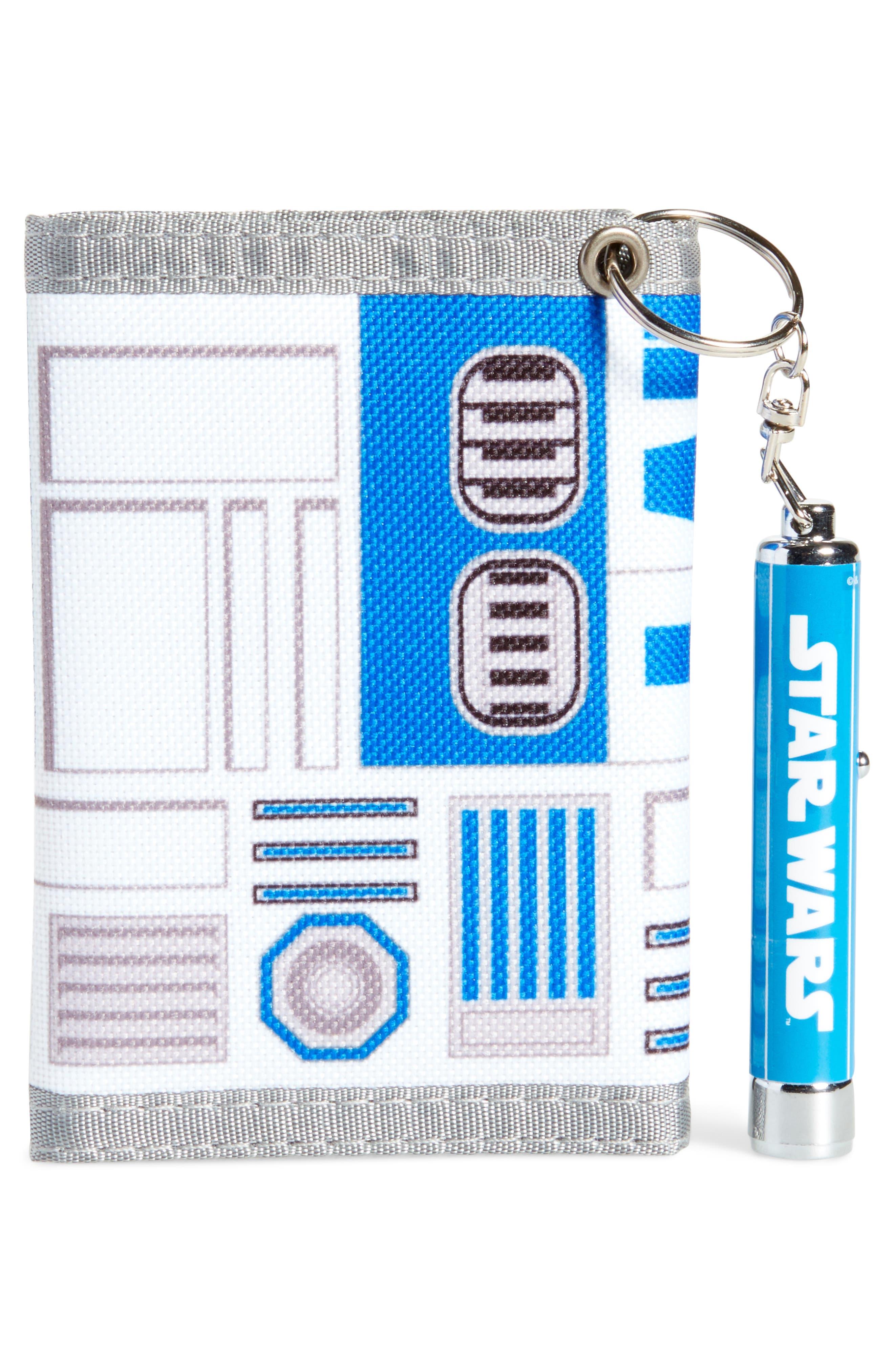 R2-D2 Wallet & Logo Light Key Chain,                             Alternate thumbnail 2, color,                             100