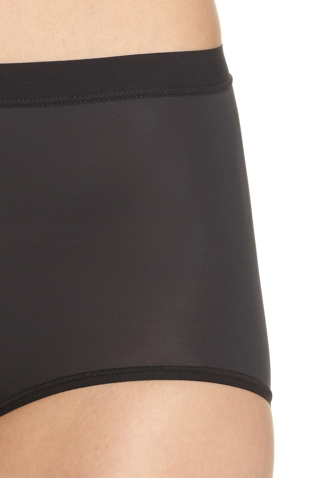 Flawless Comfort Briefs,                             Alternate thumbnail 4, color,                             BLACK