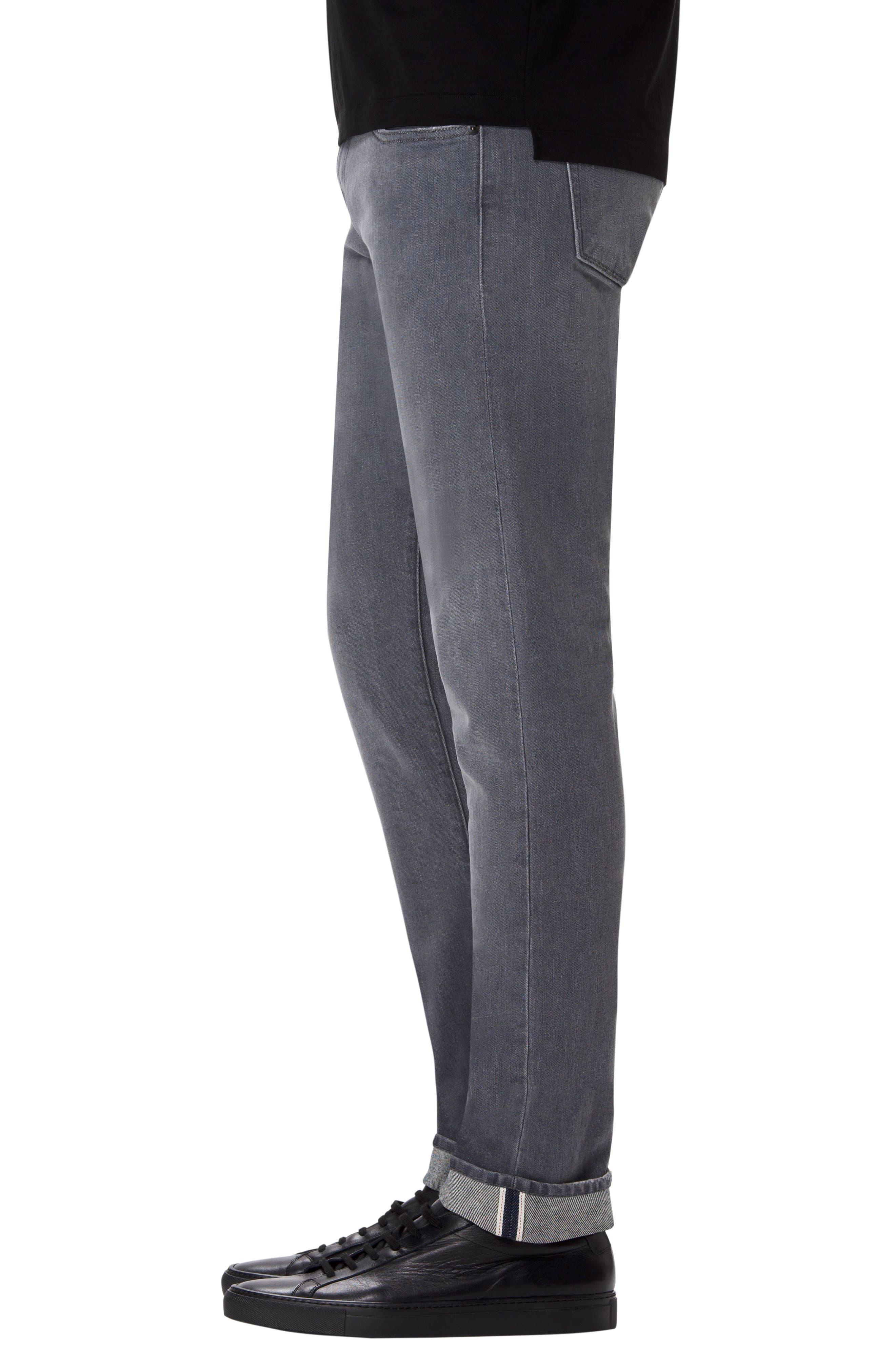Tyler Slim Fit Jeans,                             Alternate thumbnail 3, color,                             GREY LUNA