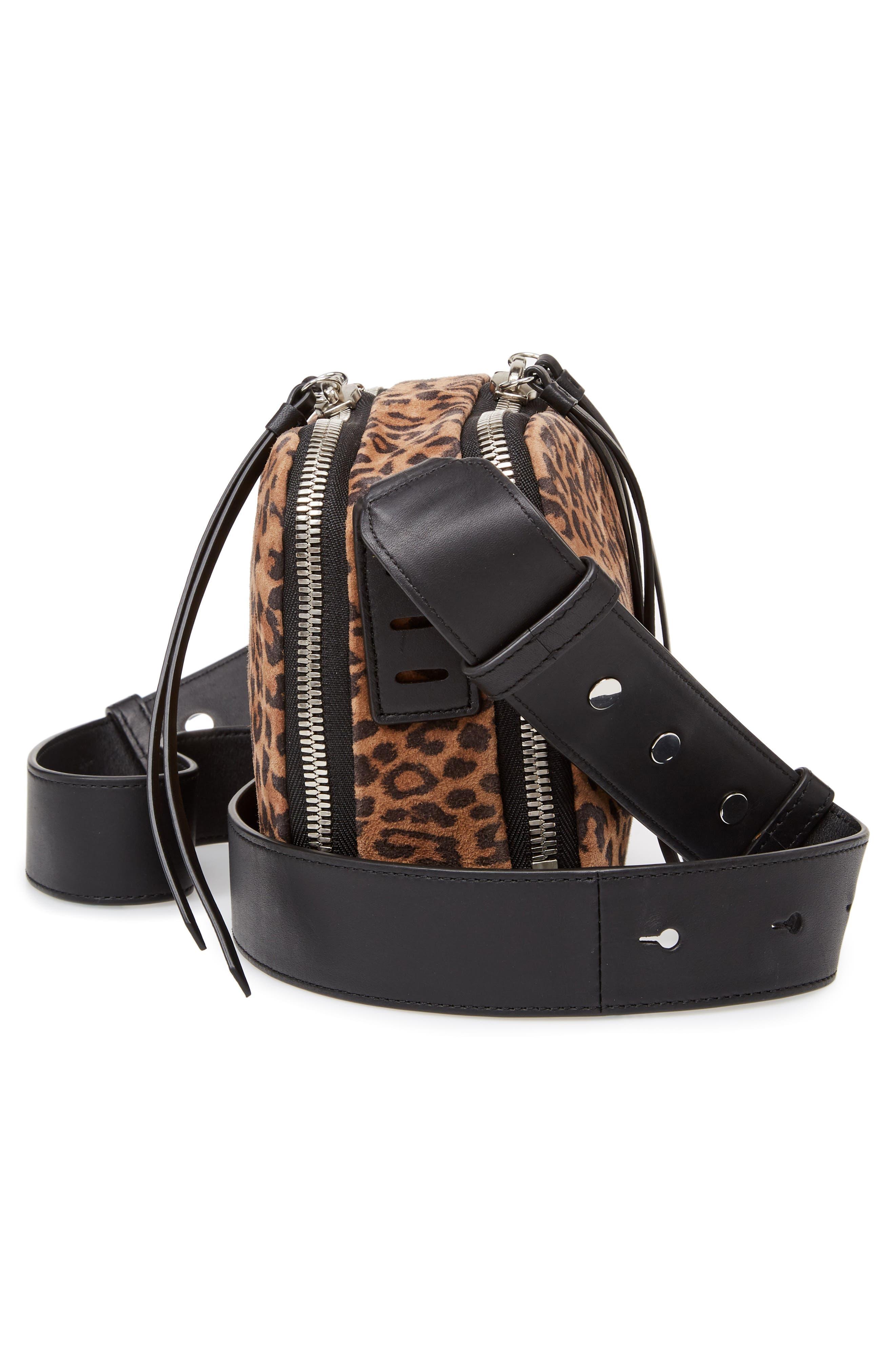 Vincent Leather Crossbody Bag,                             Alternate thumbnail 5, color,                             LEOPARD/ BLACK