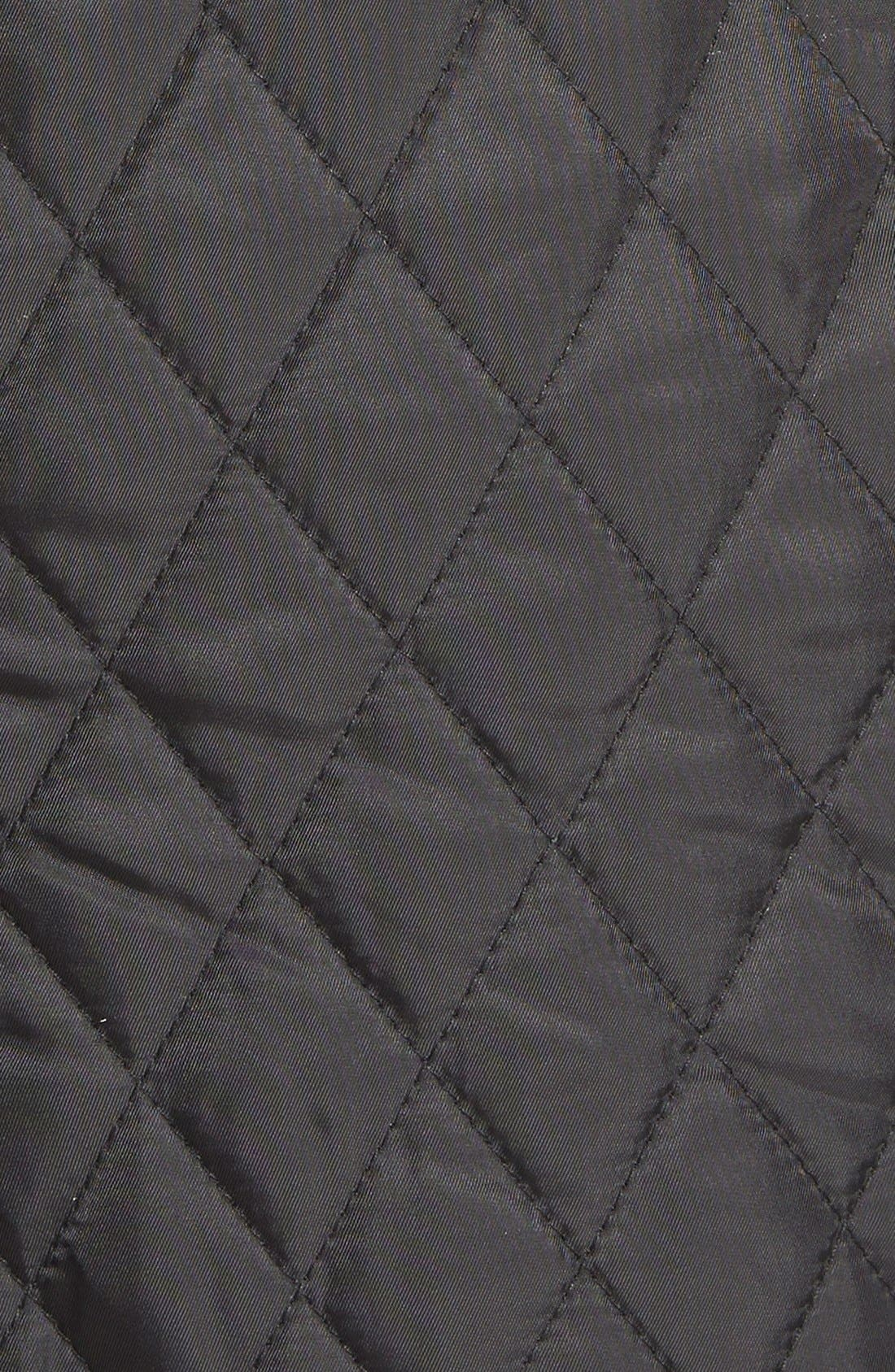DetachableHood Quilted Anorak,                             Alternate thumbnail 5, color,                             001
