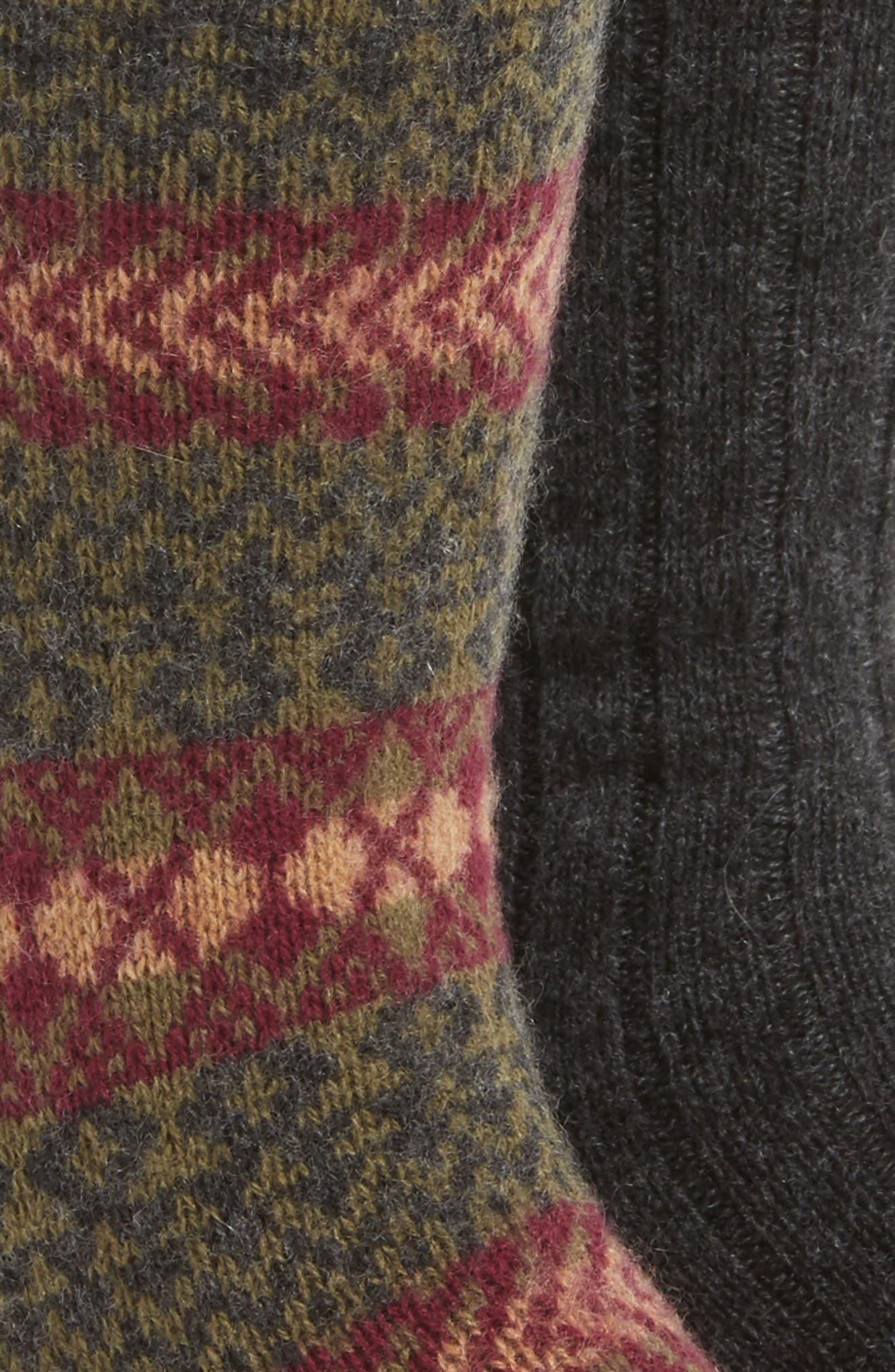 2-Pack Cashmere Blend Socks,                             Alternate thumbnail 7, color,