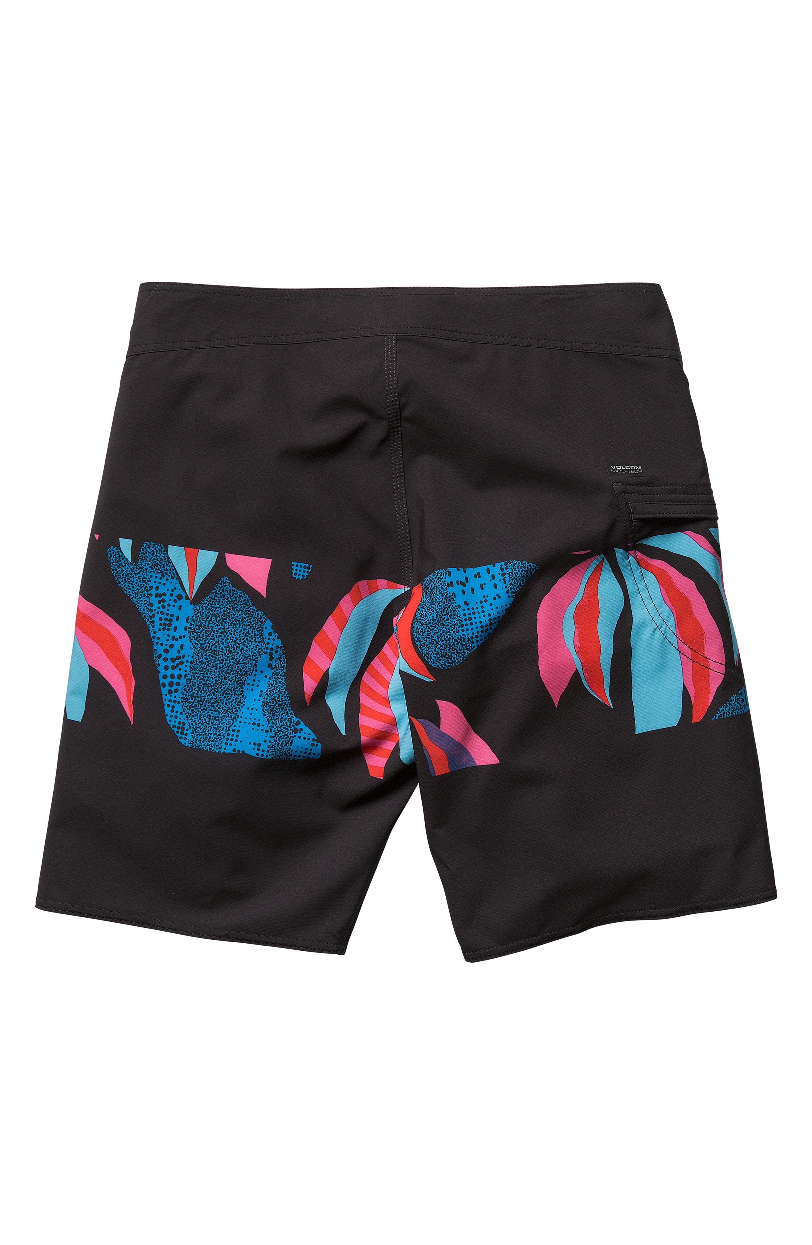 Macaw Mod Board Shorts,                             Alternate thumbnail 5, color,                             NEW BLACK
