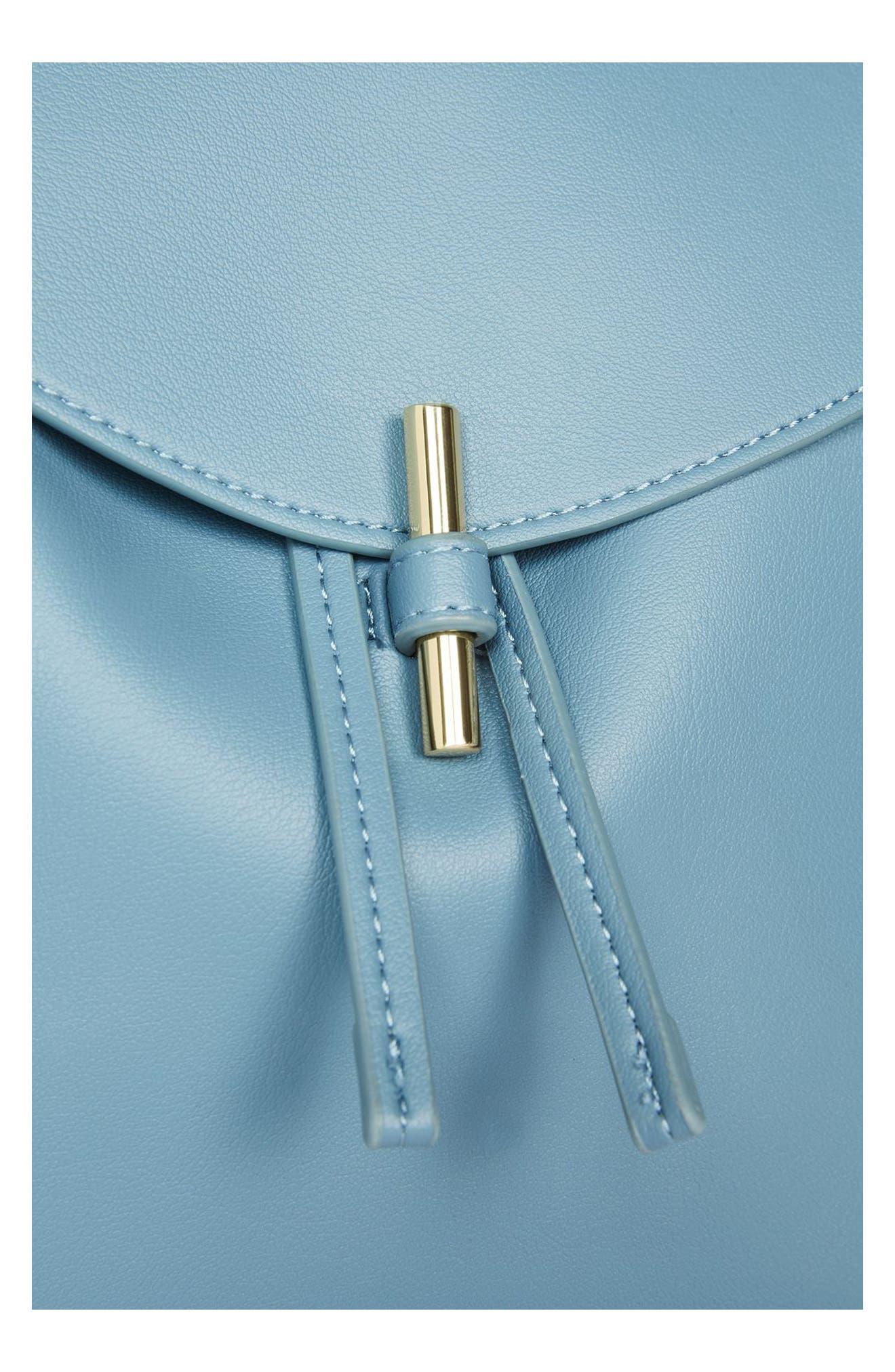 Blake Mini Faux Leather Backpack,                             Alternate thumbnail 14, color,