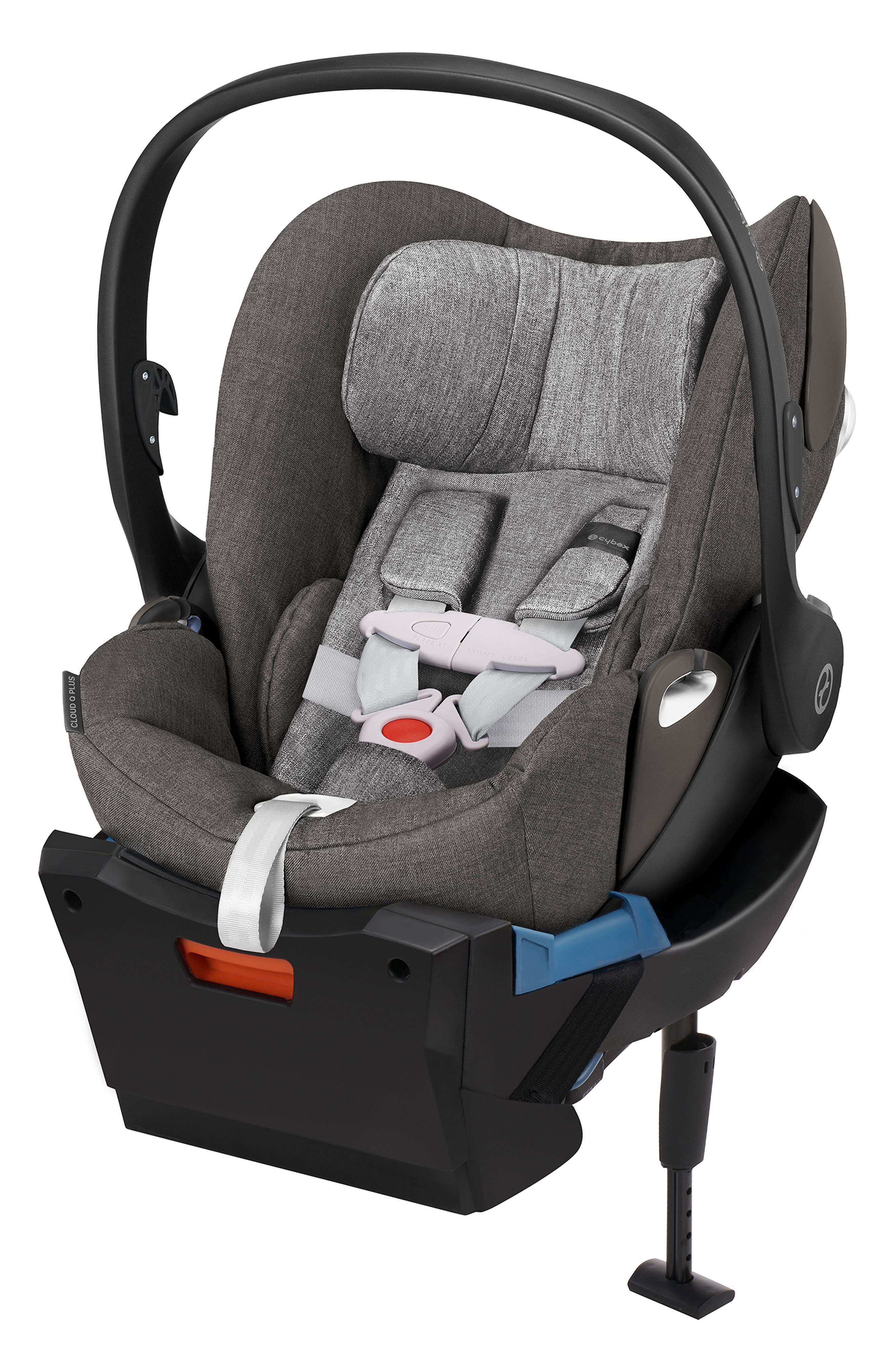 Cloud Q Plus Infant Car Seat & Base,                             Main thumbnail 1, color,                             MANHATTAN GREY