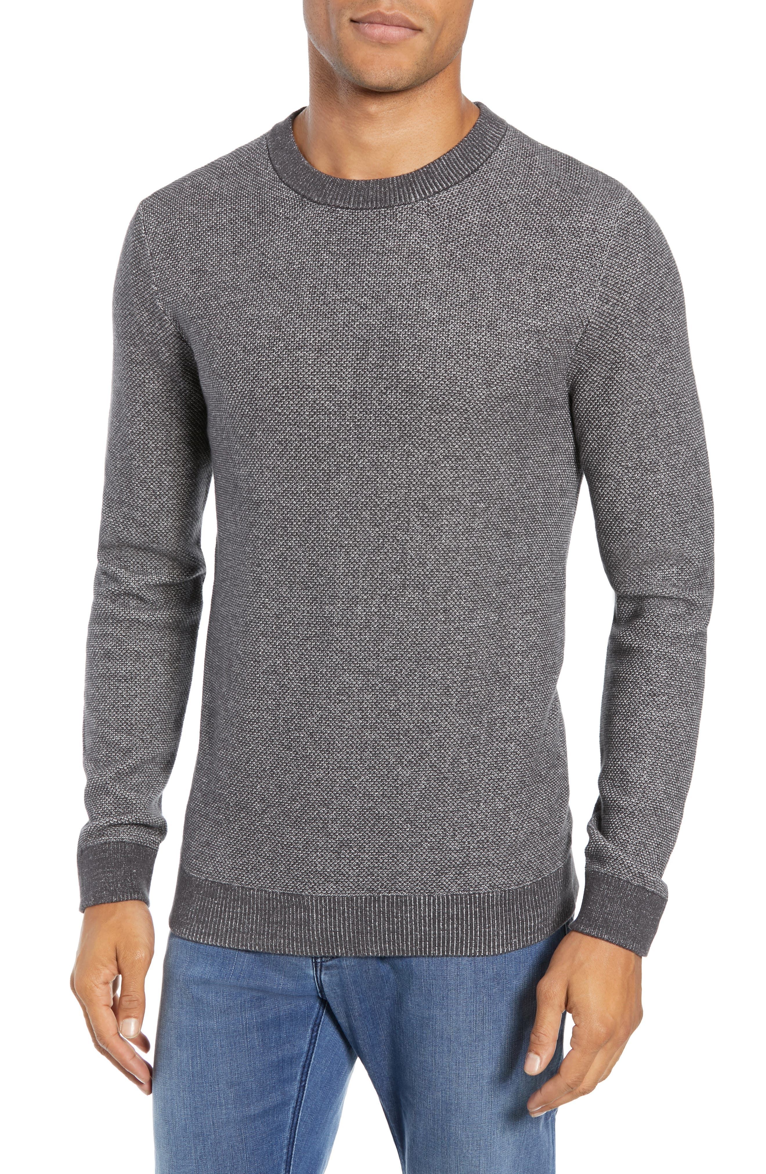 Selected Homme Regular Fit Crewneck Sweater, Grey