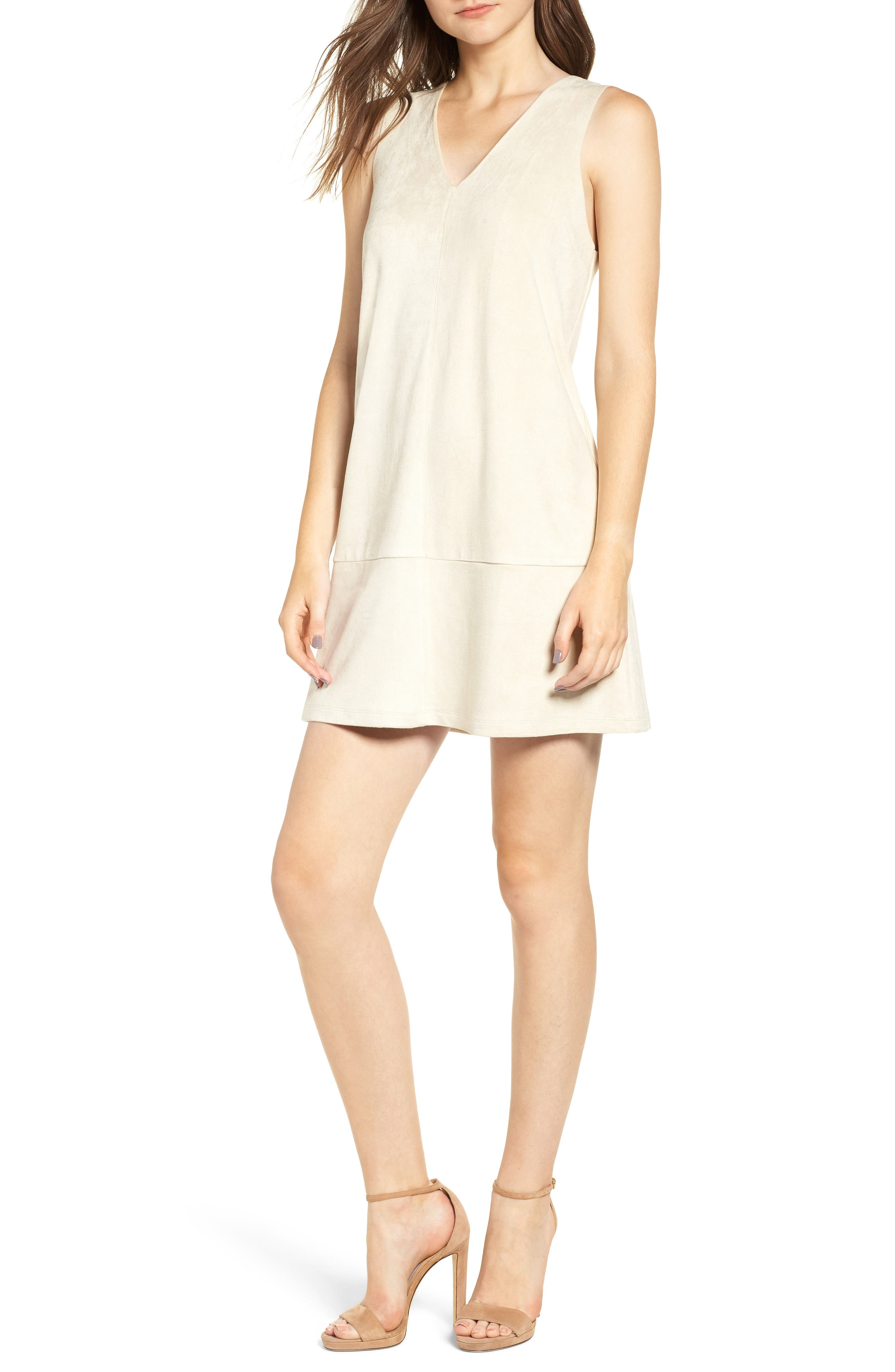 Sueded Sleeveless Shift Dress,                         Main,                         color, 251