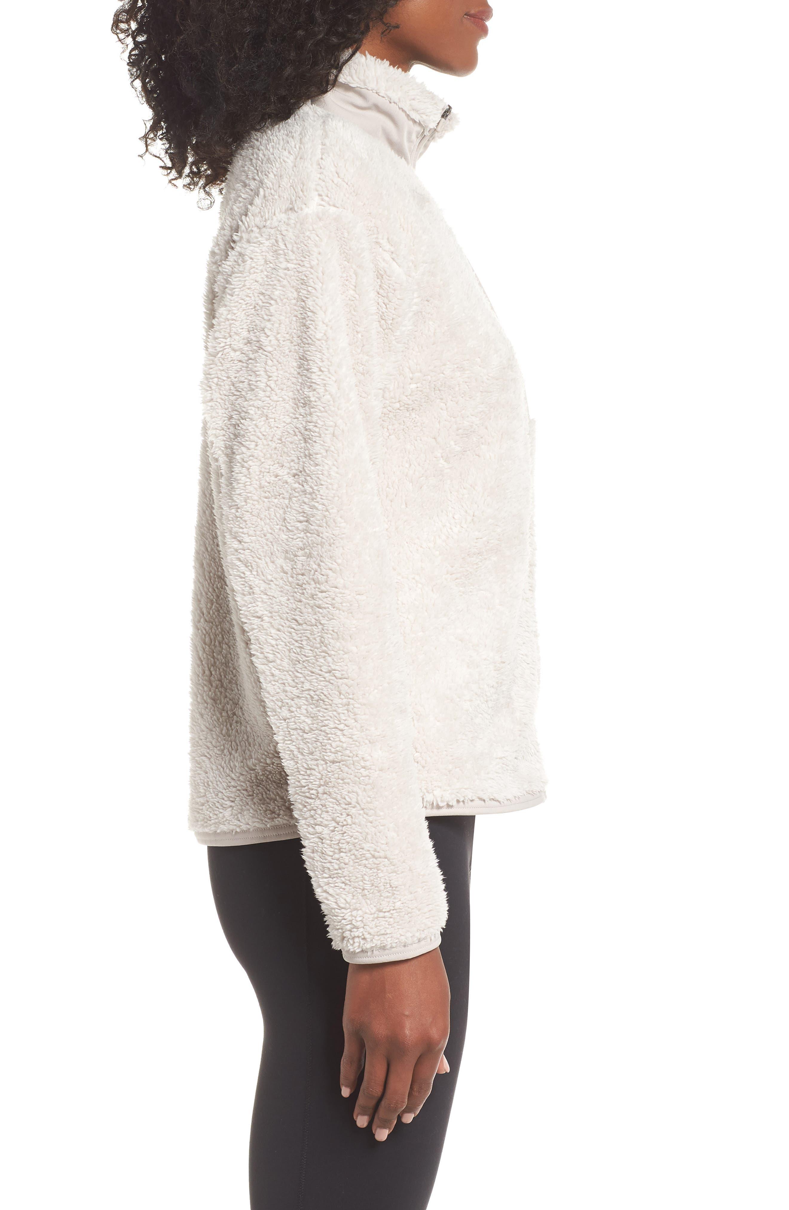 Therma Women's Full Zip Fleece Training Top,                             Alternate thumbnail 3, color,                             DESERT SAND/ MOON PARTICLE