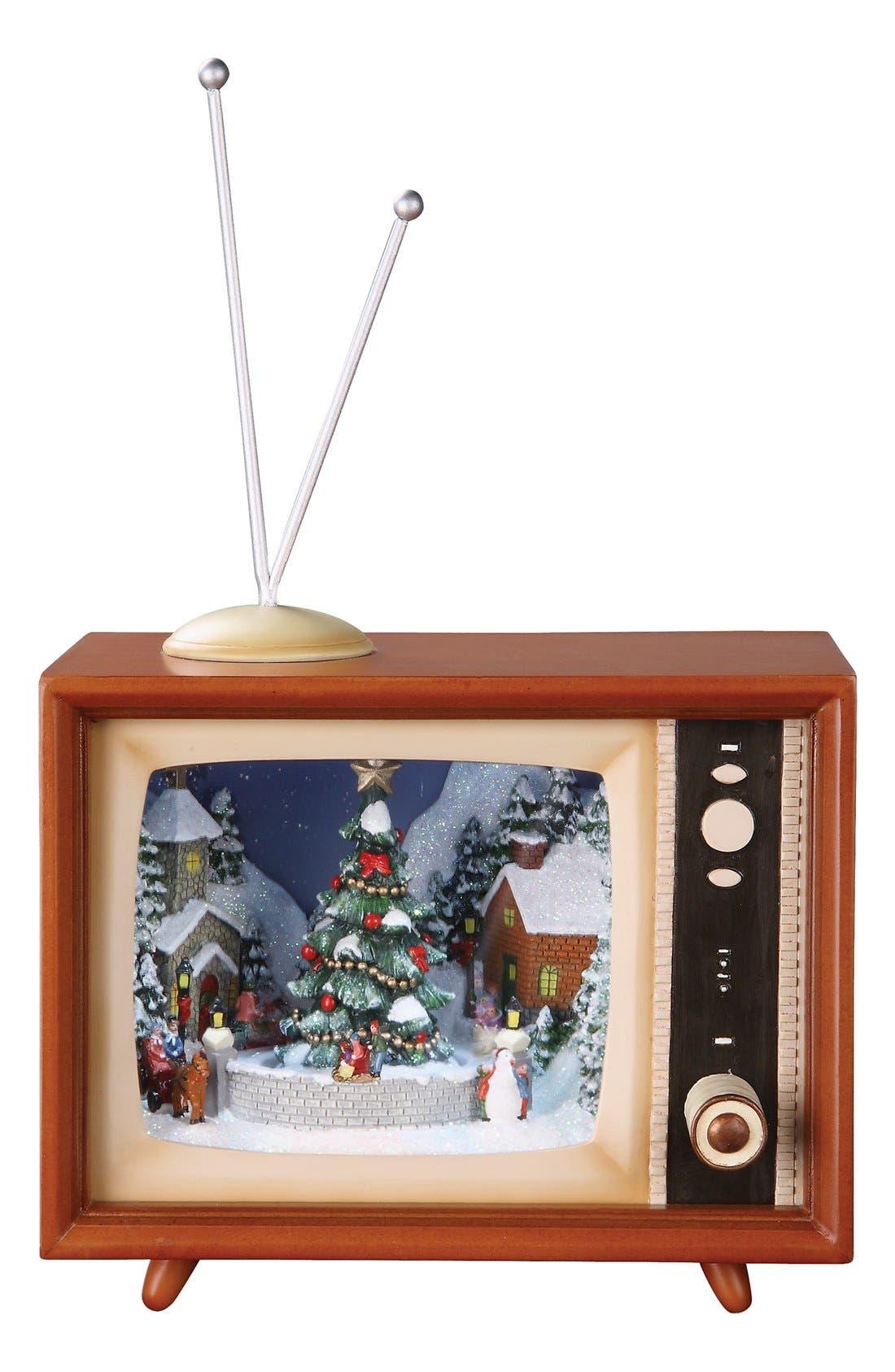 'Sledders' LED Musical TV Decoration,                             Main thumbnail 1, color,                             BROWN/ MULTI