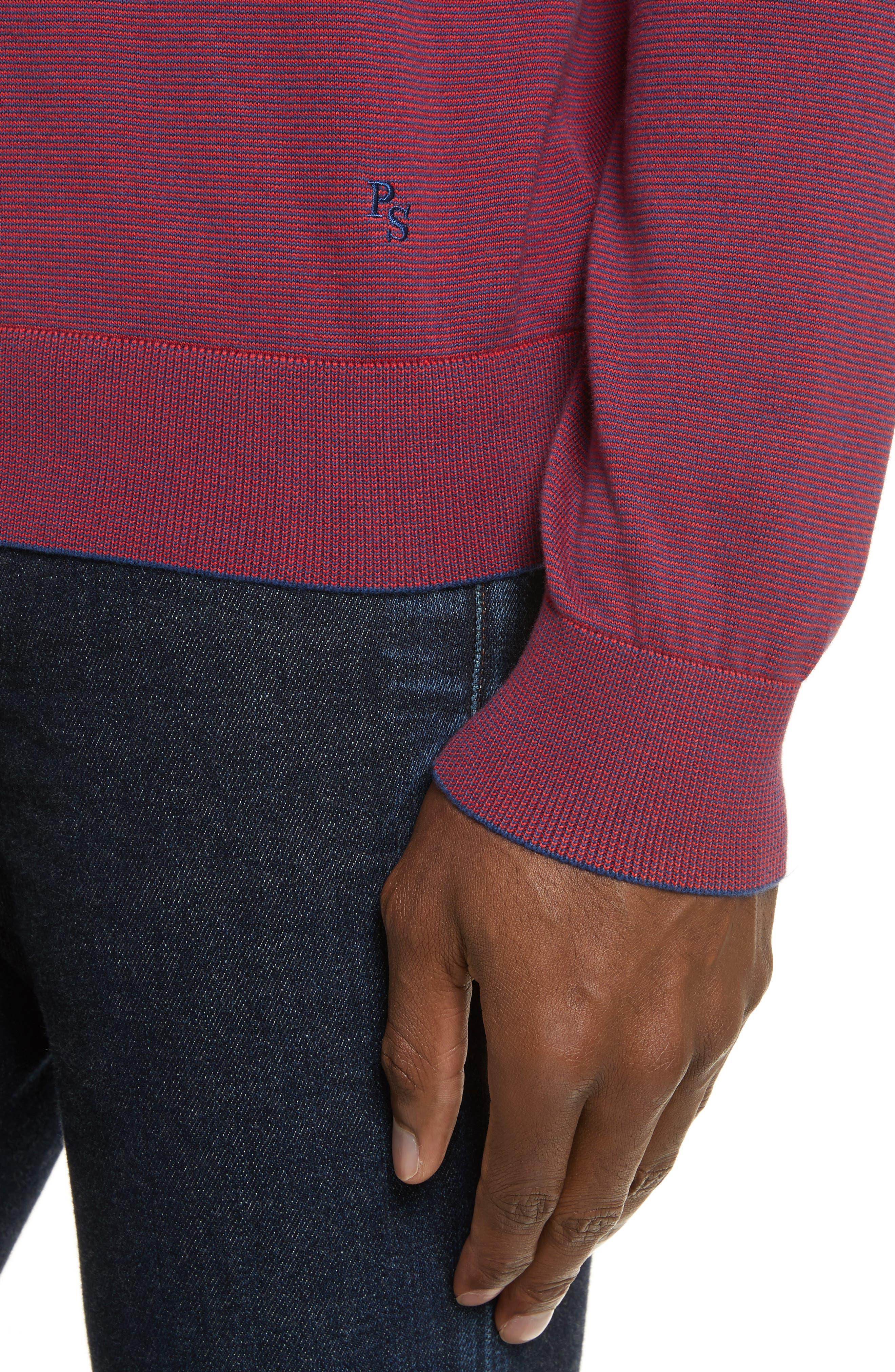Ministripe Crewneck Sweater,                             Alternate thumbnail 4, color,                             415