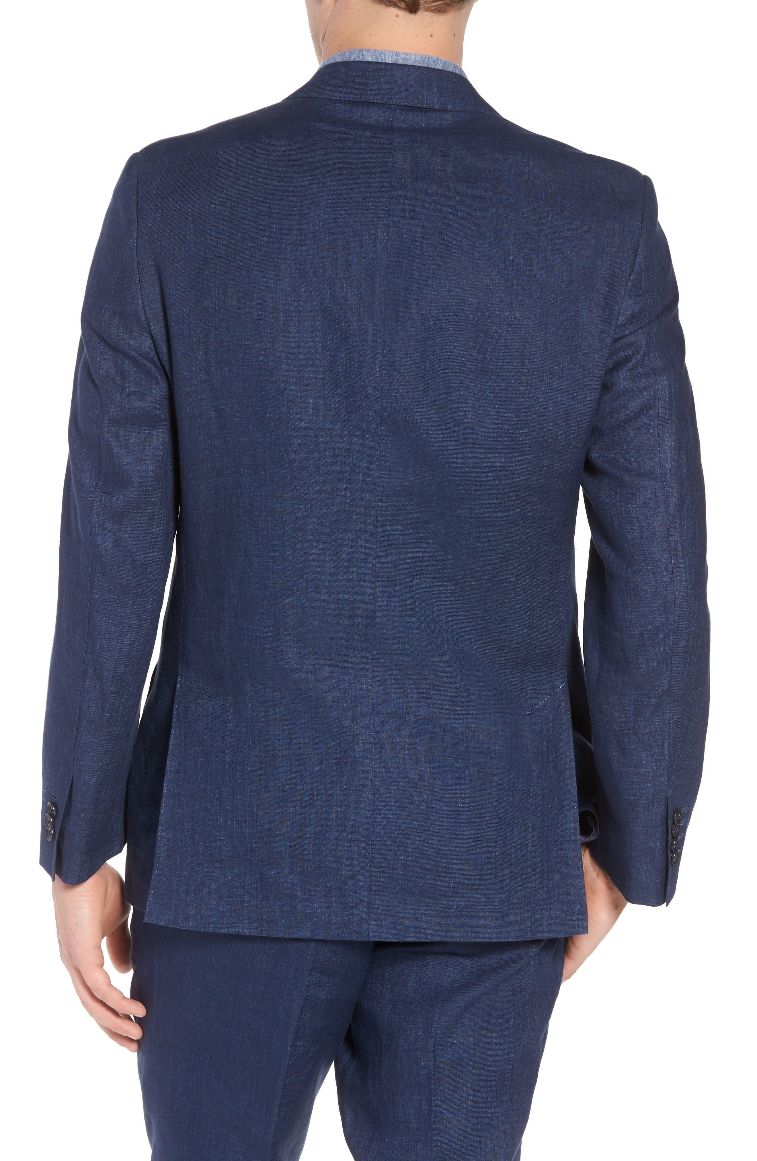 Jack AIM Classic Fit Linen Blazer,                             Alternate thumbnail 2, color,                             NAVY