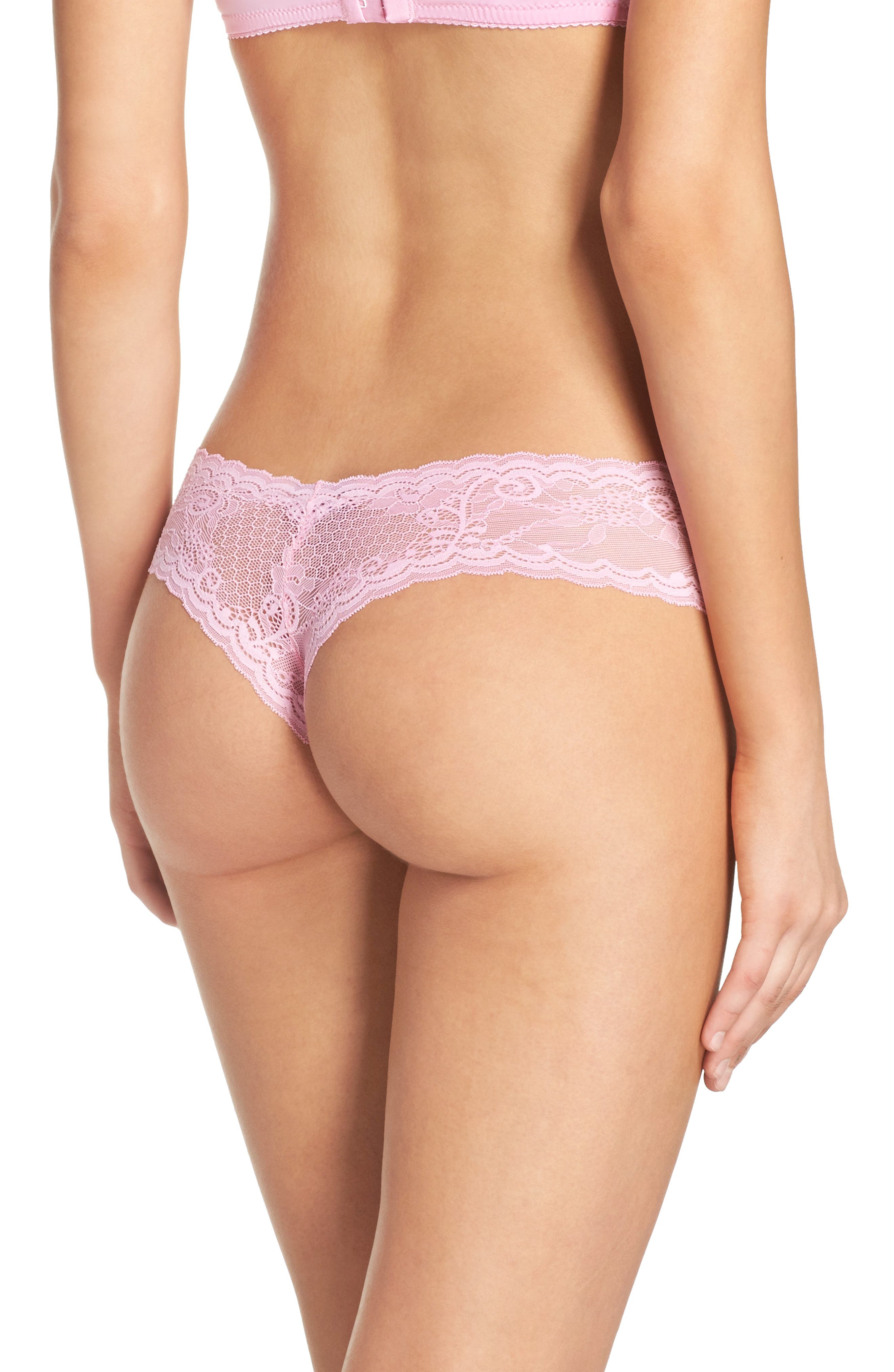 'Trenta' Low Rise Lace Thong,                             Alternate thumbnail 105, color,