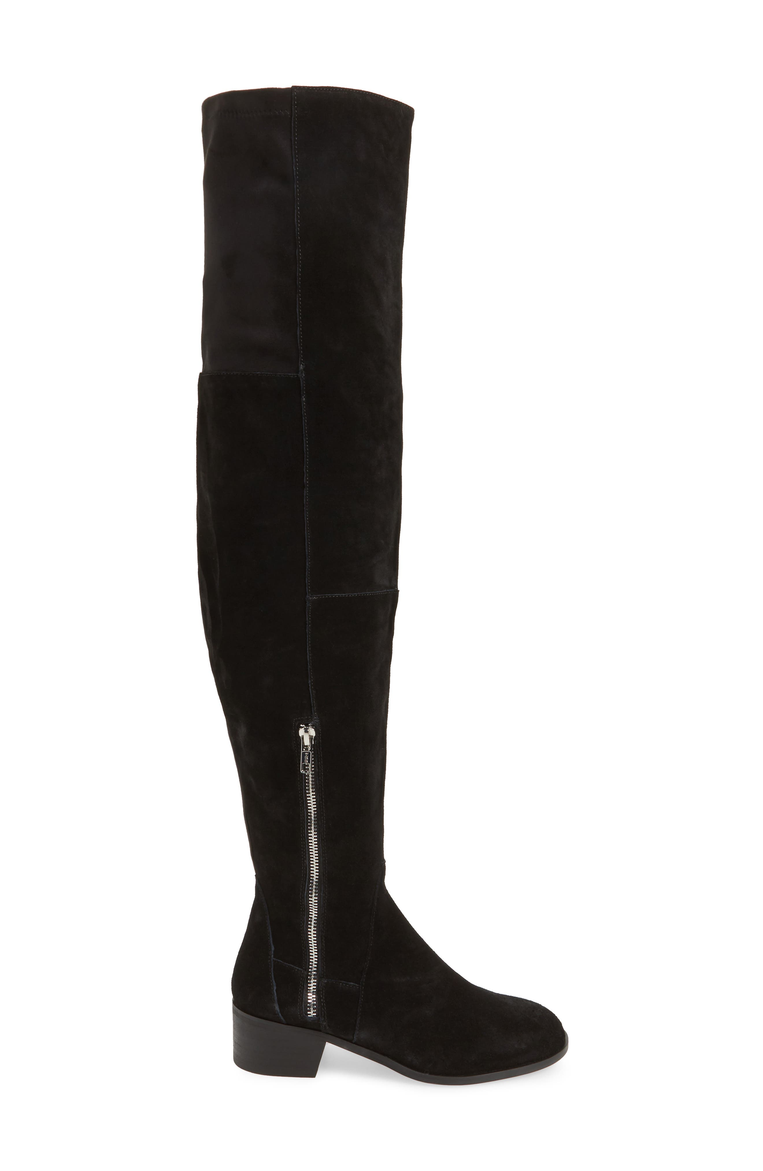 Everly Thigh High Boot,                             Alternate thumbnail 3, color,                             001