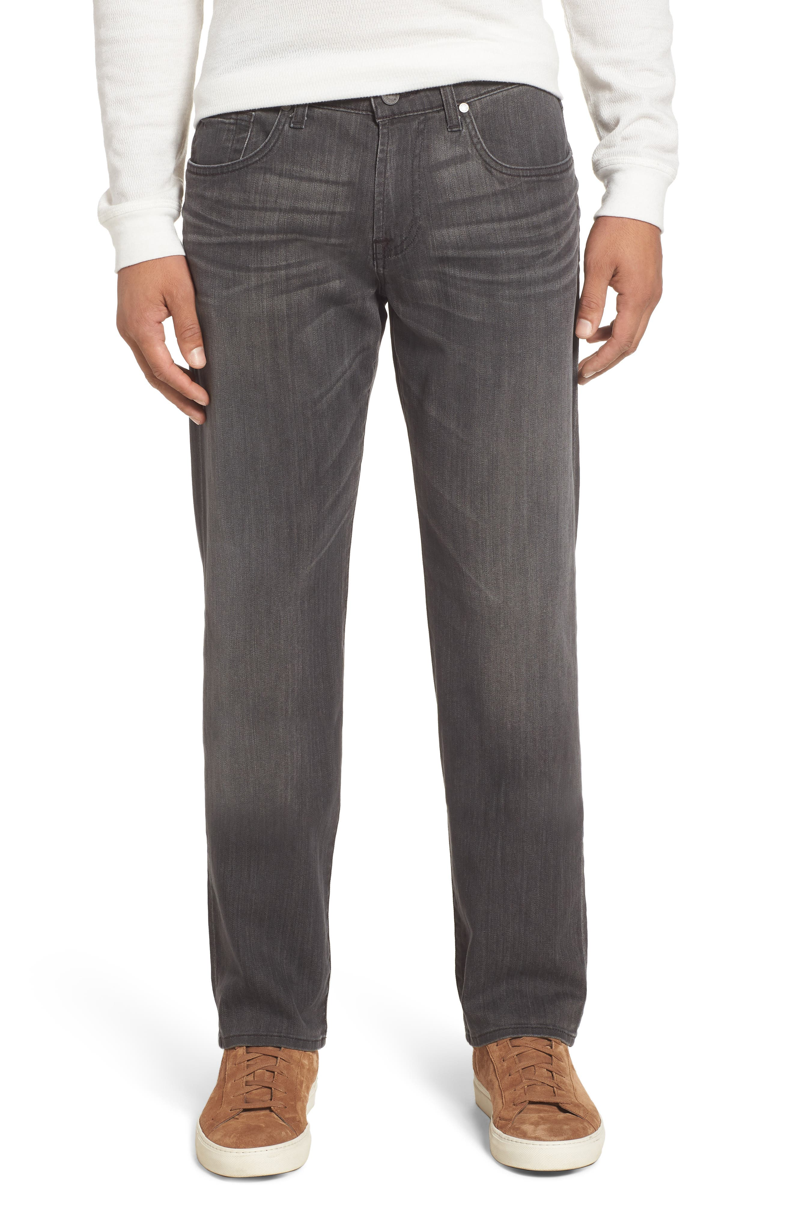 7 FOR ALL MANKIND<SUP>®</SUP>,                             Straight Leg Jeans,                             Main thumbnail 1, color,                             001