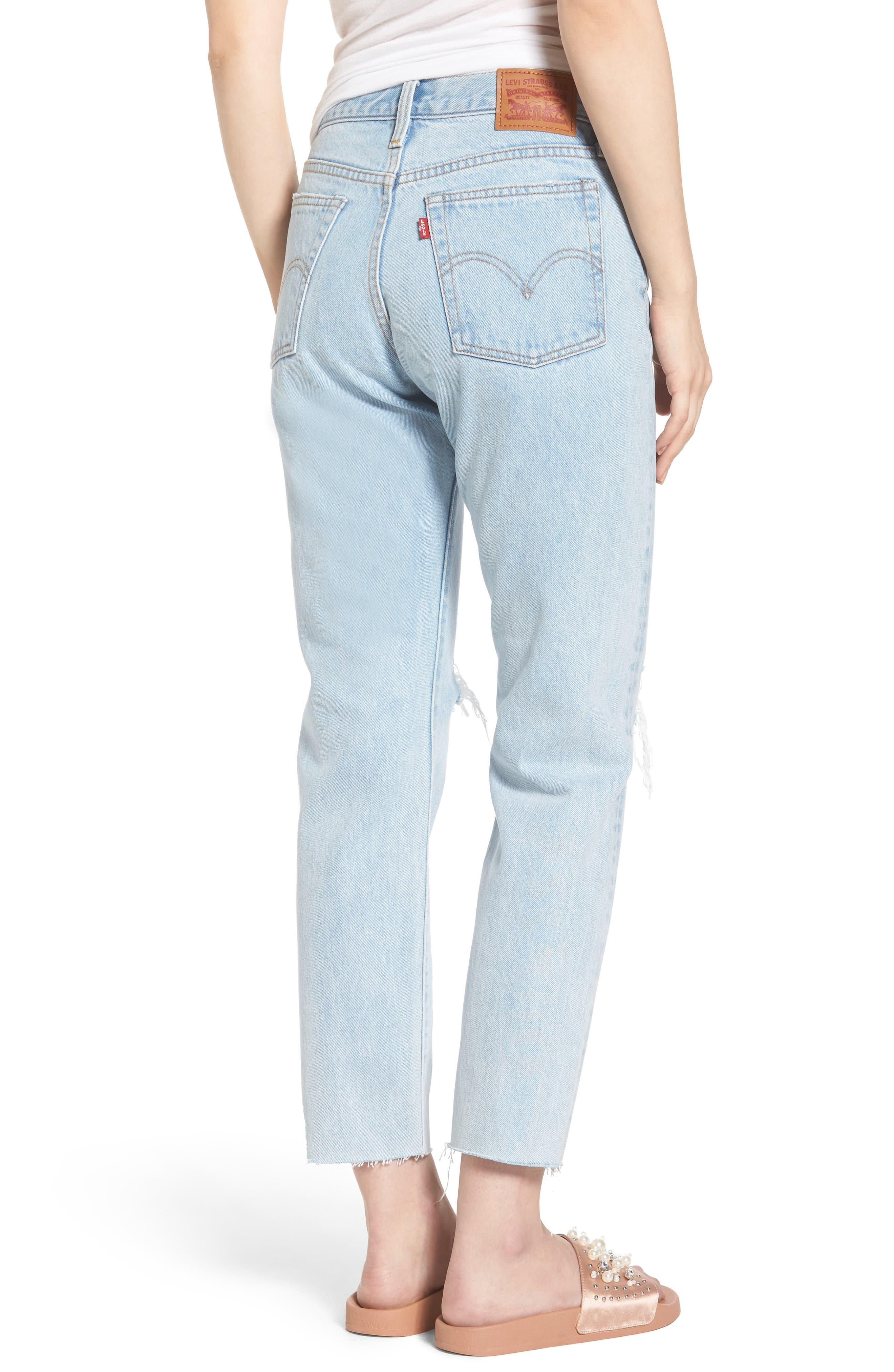 Wedgie High Waist Crop Jeans,                             Alternate thumbnail 2, color,                             450