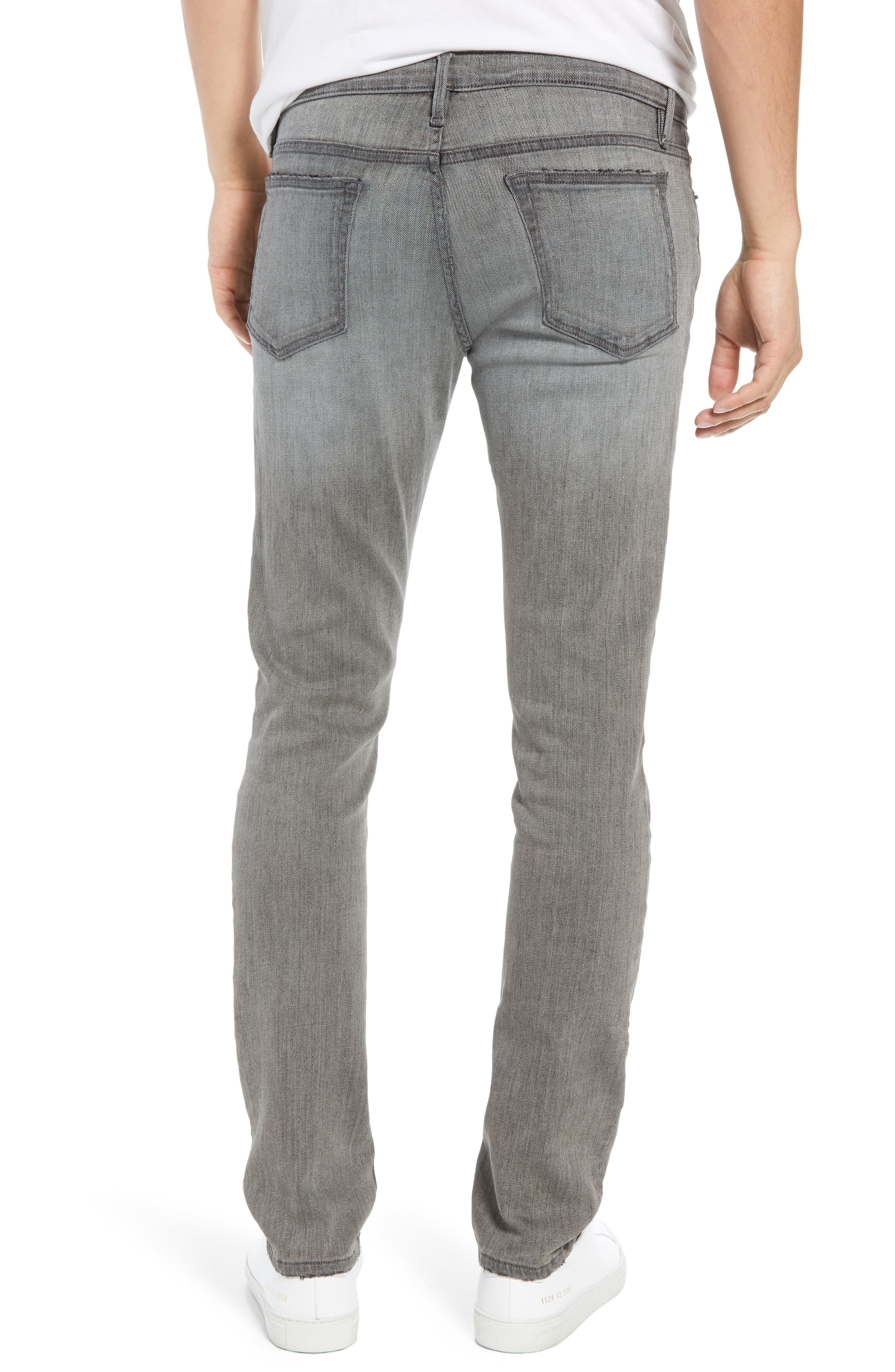 L'Homme Skinny Skinny Fit Jeans,                             Alternate thumbnail 2, color,                             FORT MCHEN